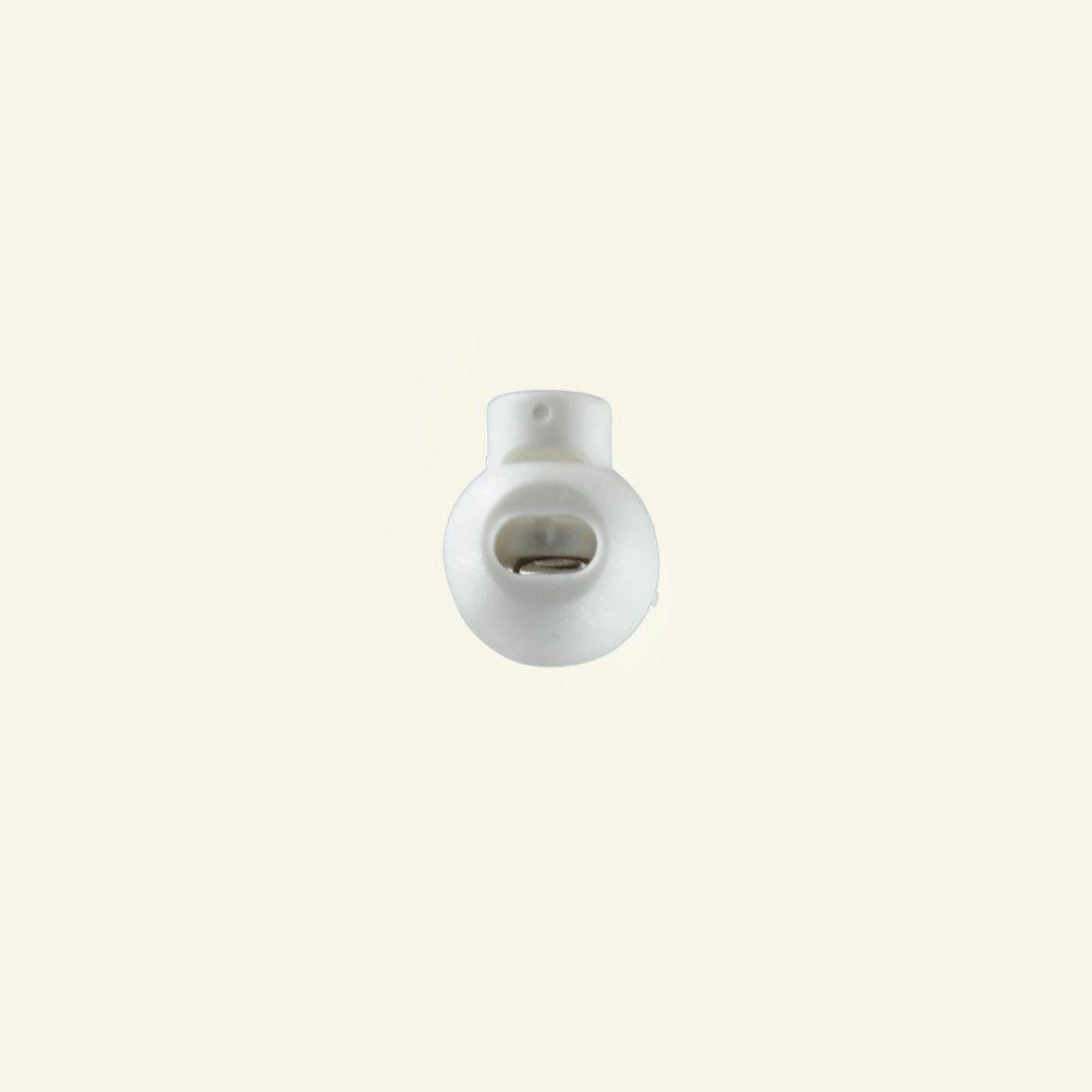 Cord lock round white plastic 2pcs 43601_pack