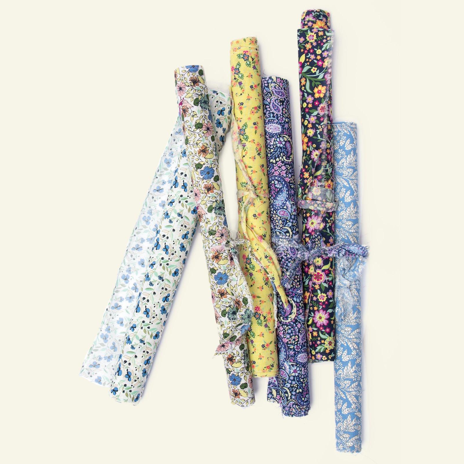 Cotton beige with blue flowers 852359_852364_852363_852366_852362_852365_92440_bundle