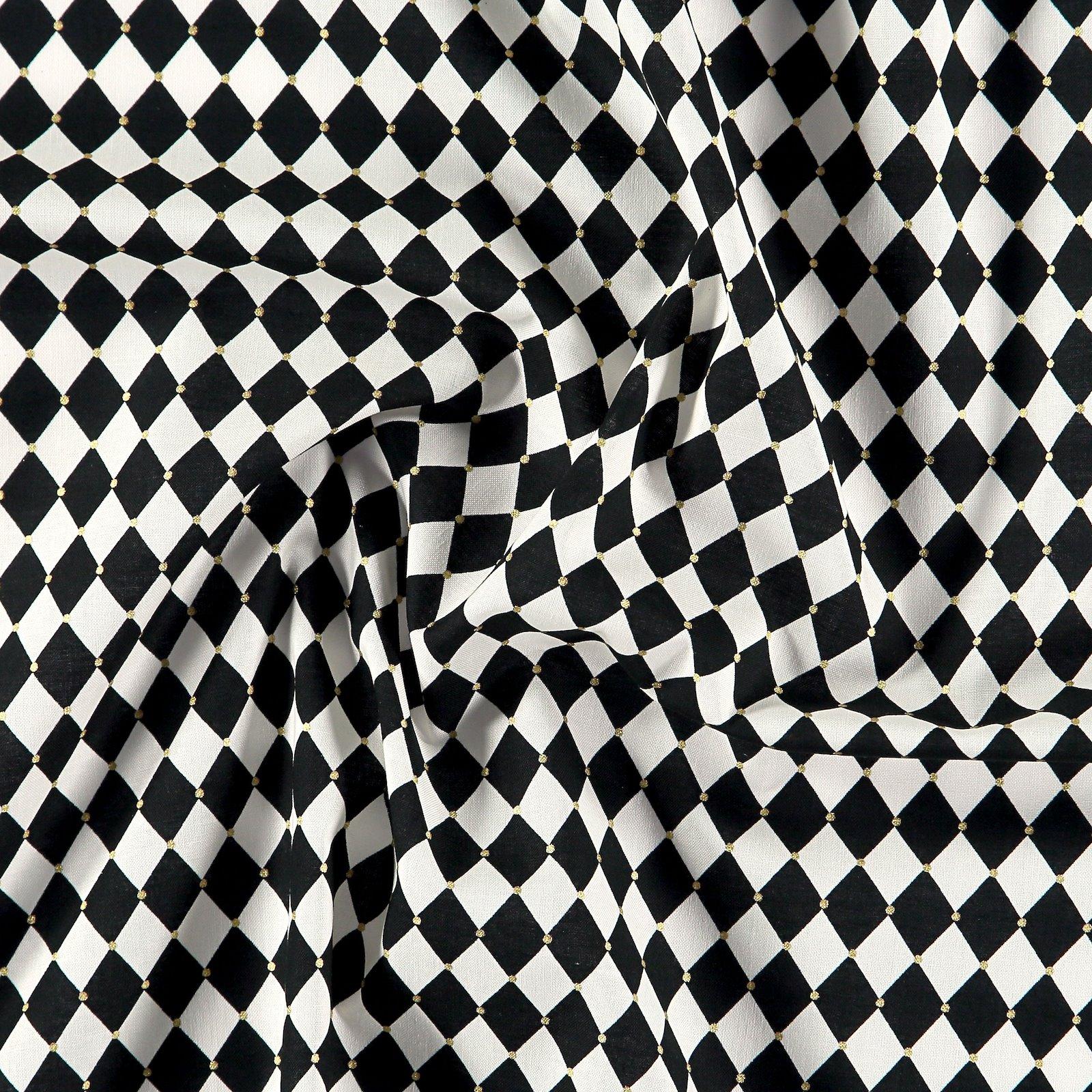 Cotton black and white harlequin checks 852394_pack