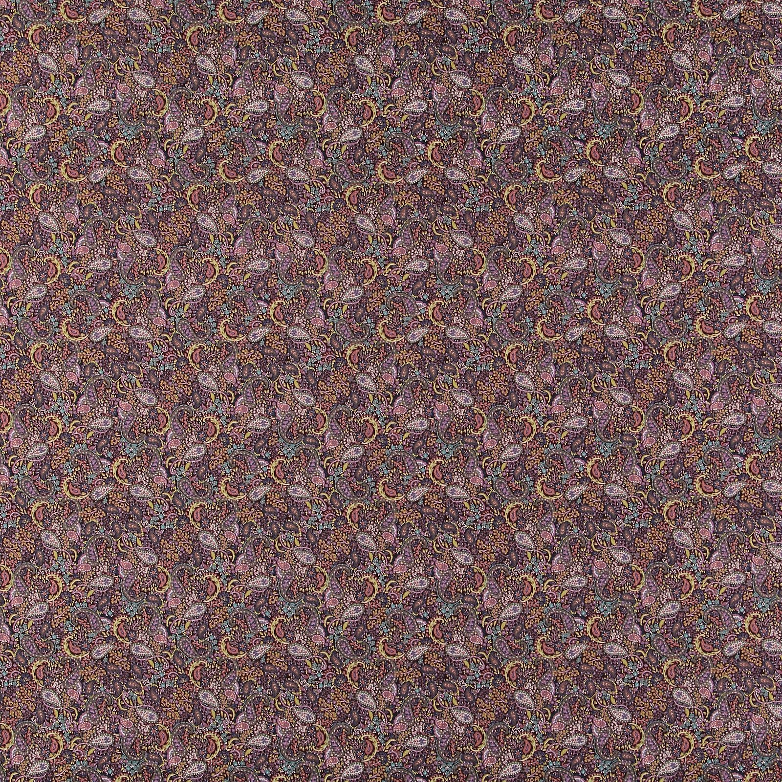 Cotton chestnut brown paisley pattern 852409_pack_sp
