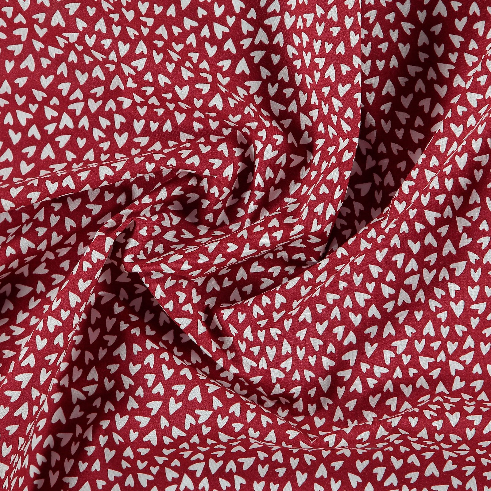 Cotton classic red with white hearts 790141_pack