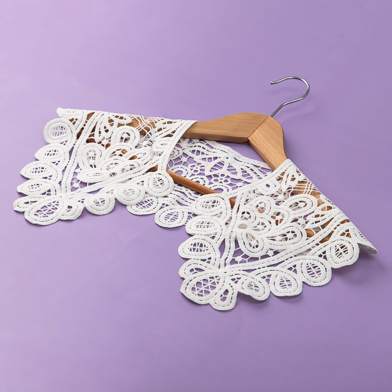 Cotton collar lace 70x17cm white 1pc 25161_sskit_c
