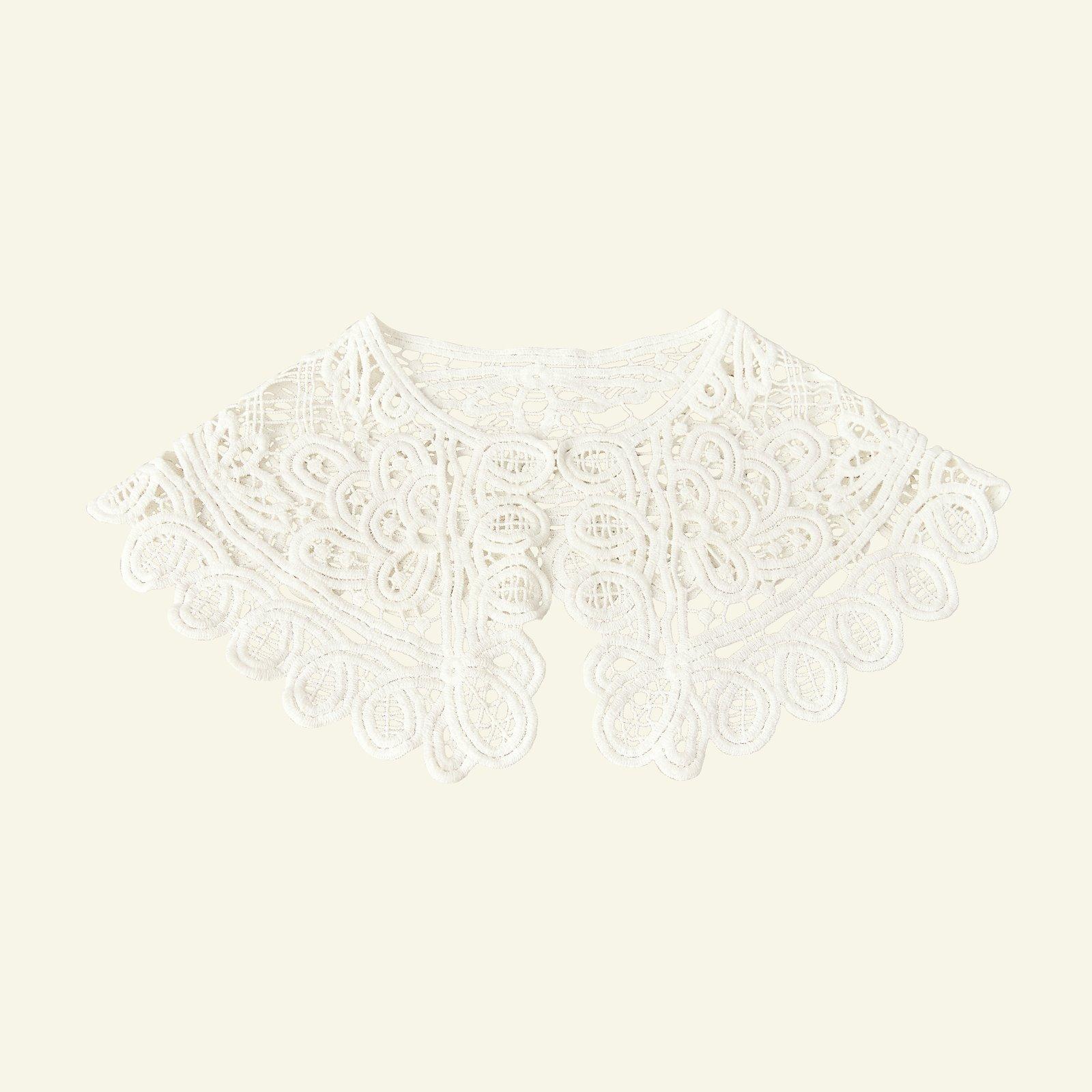 Cotton collar lace 70x17cm white 1pc 25161_sskit