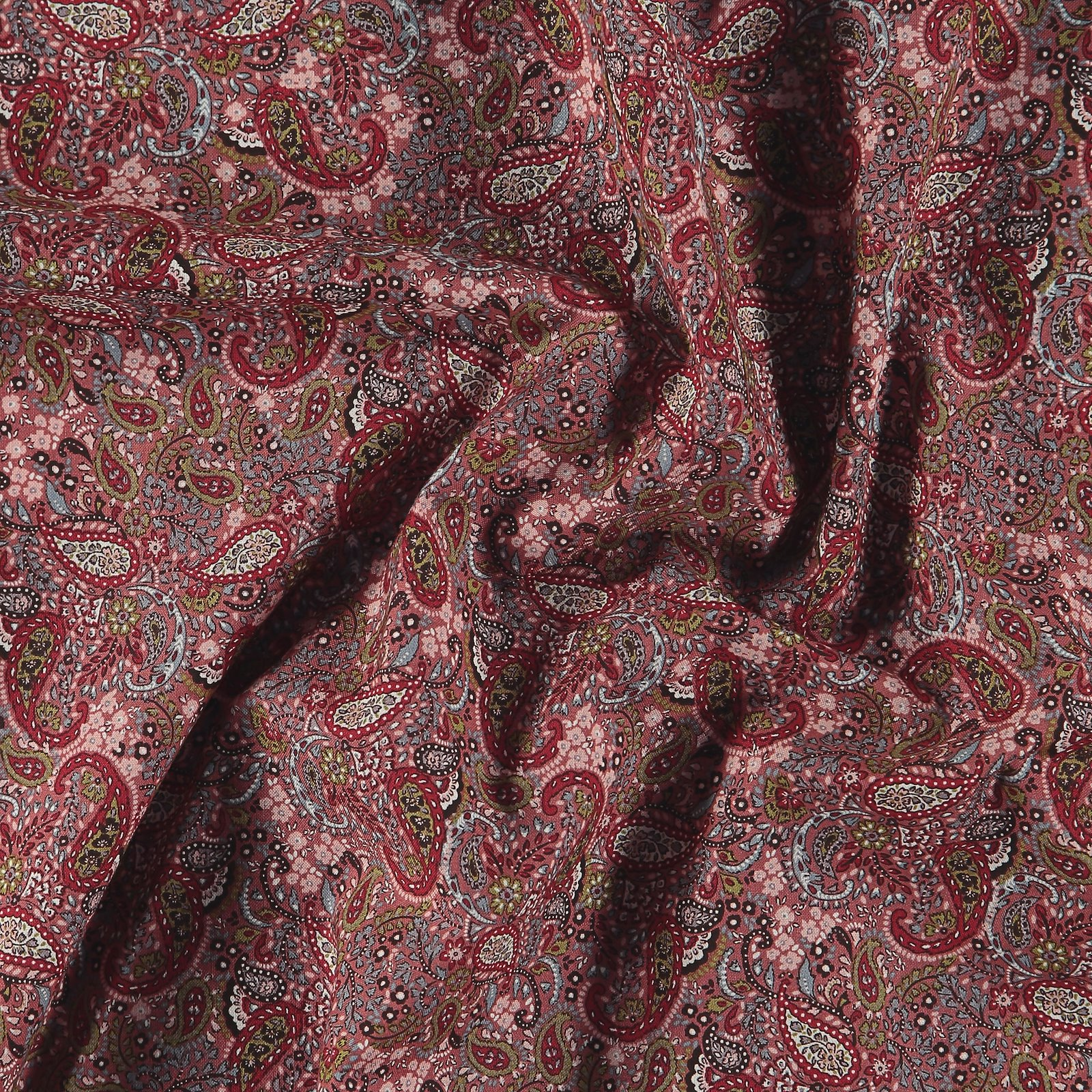 Cotton dark warm rose with paisley 852404_pack