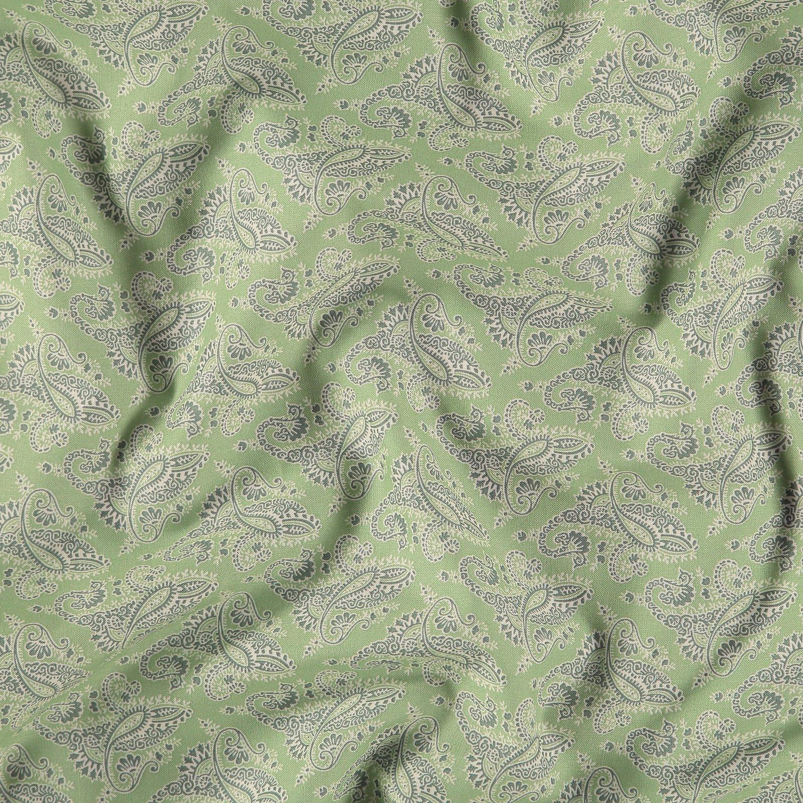 Cotton dusty sage w paisley pattern 852370_pack