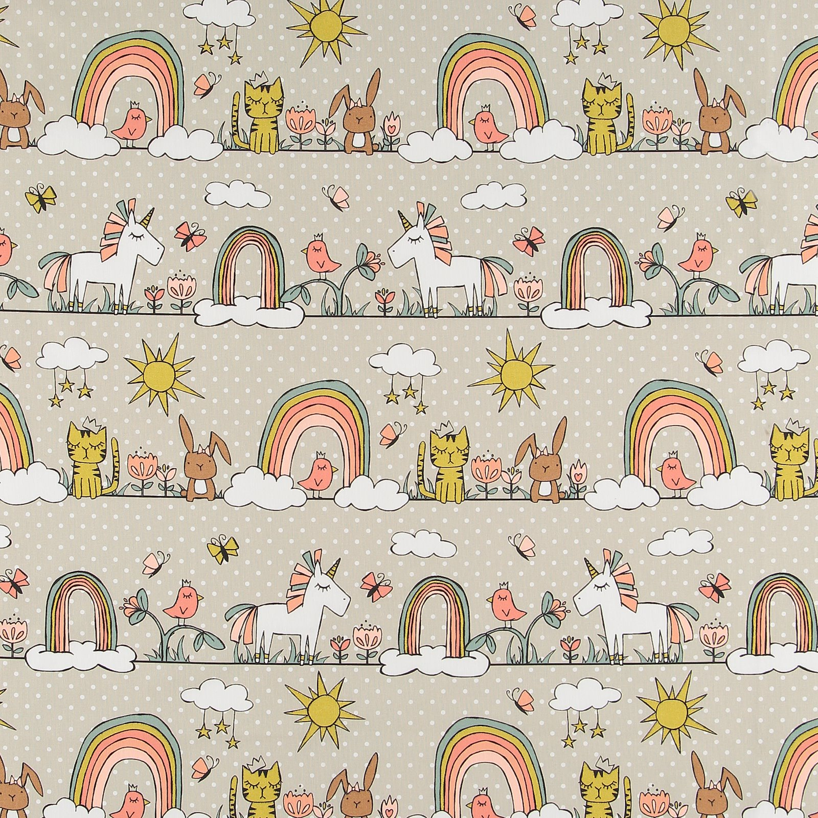 Cotton light sand with dots and animals 790129_pack_sp