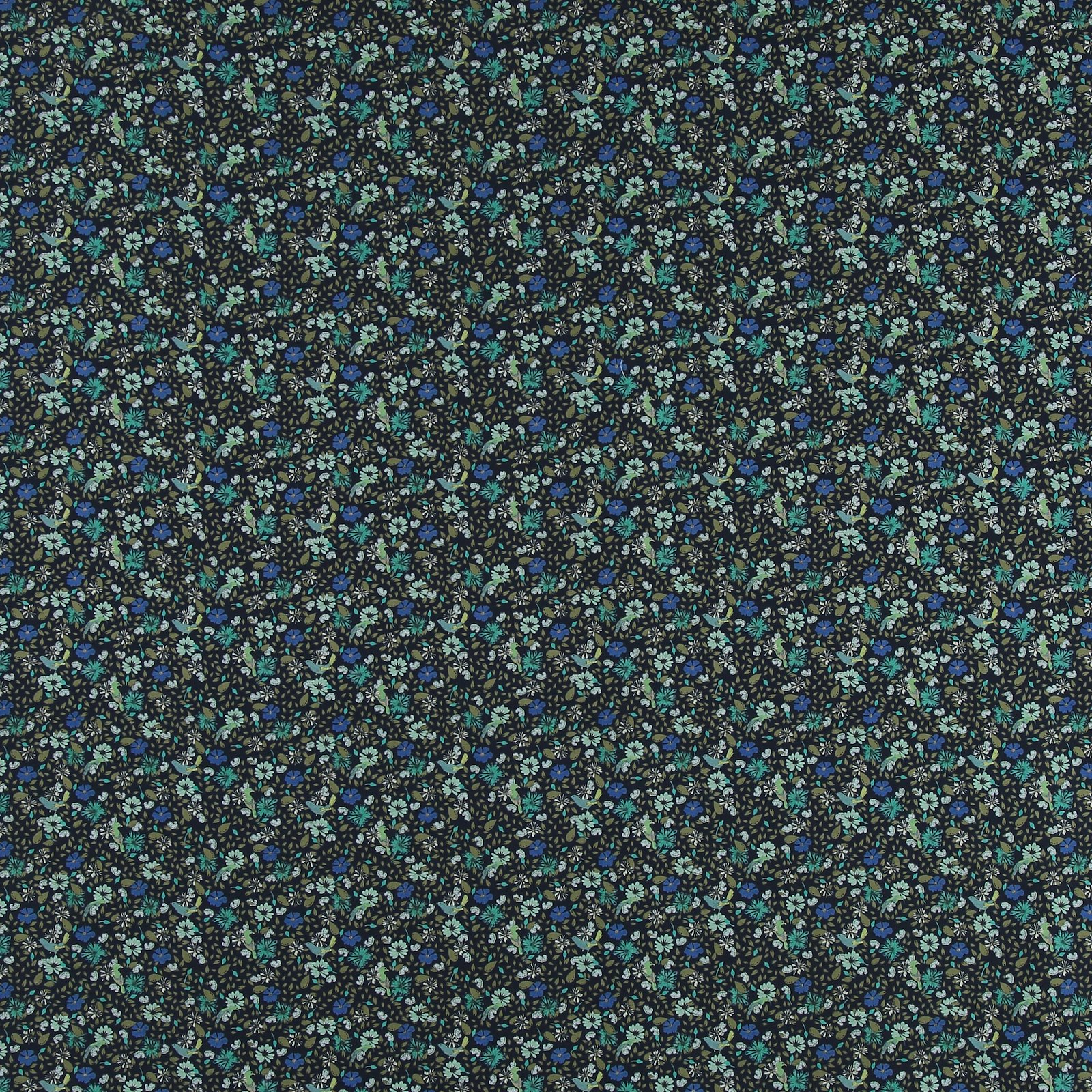 Cotton navy with flowers and birds 852407_pack_sp