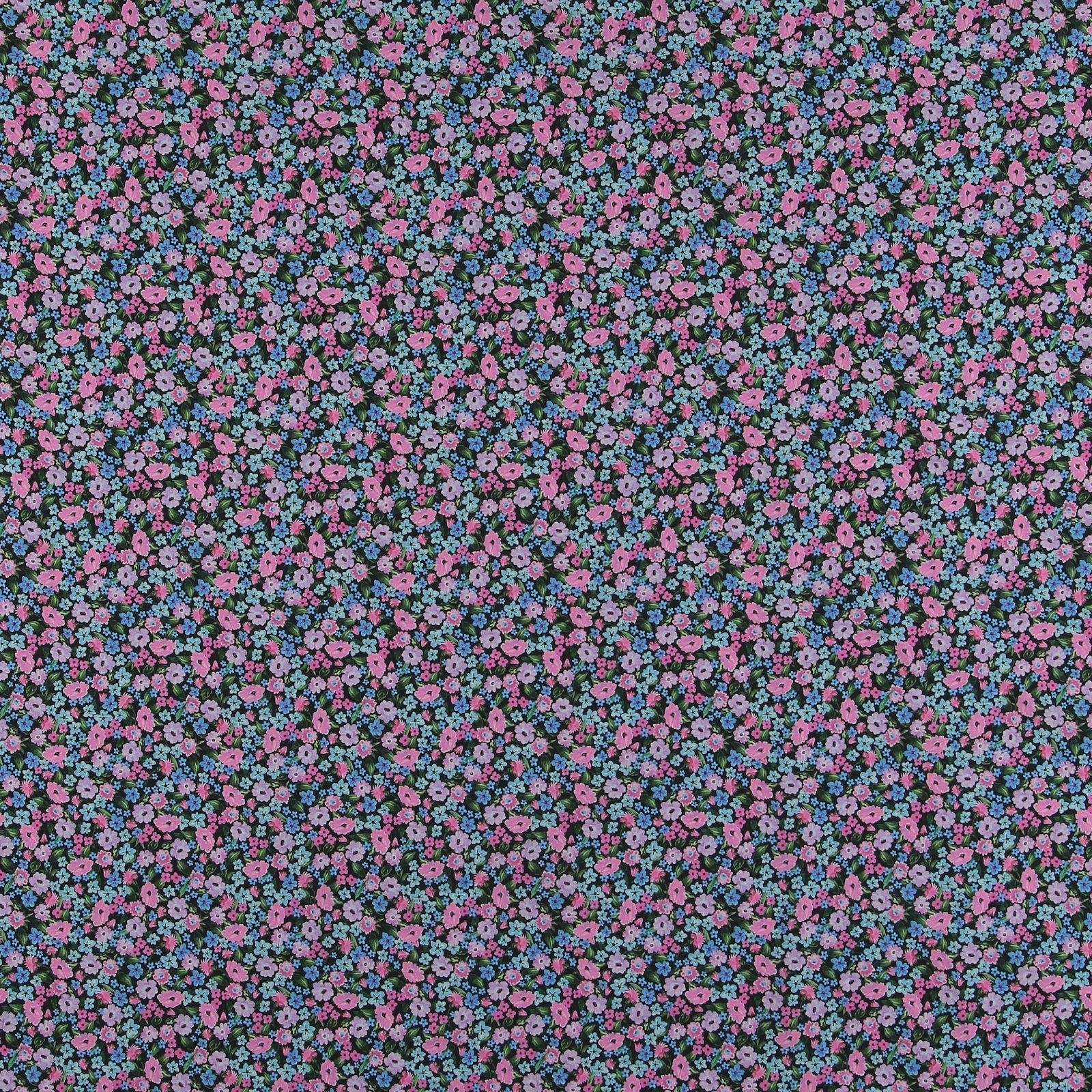 Cotton poplin black w pink/blue flowers 540123_pack_sp