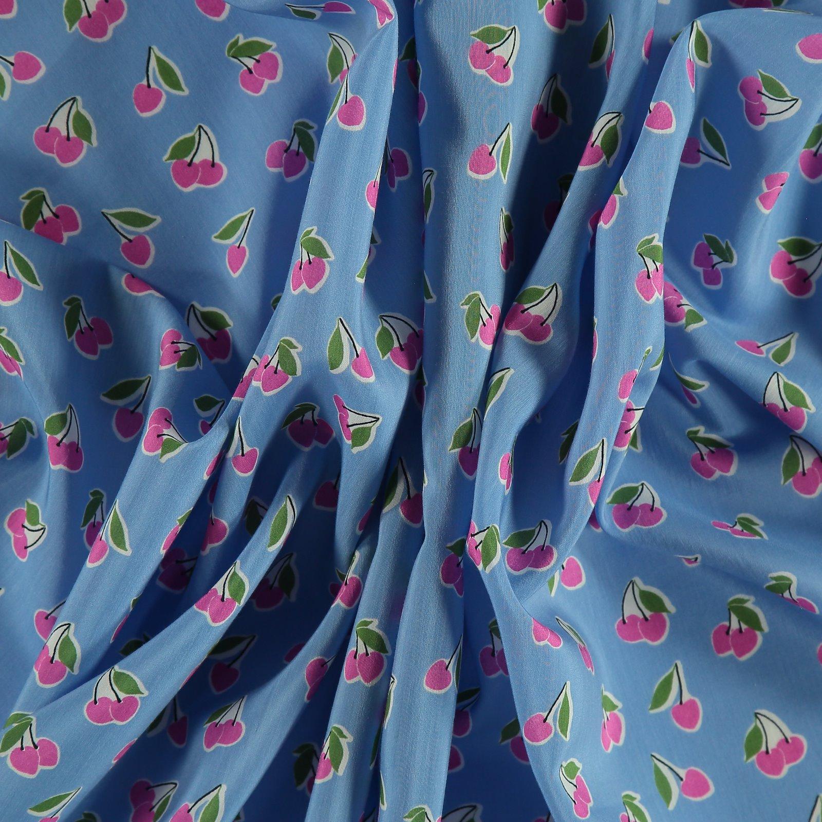 Cotton/viscose cobalt blue with cherry 501874_pack