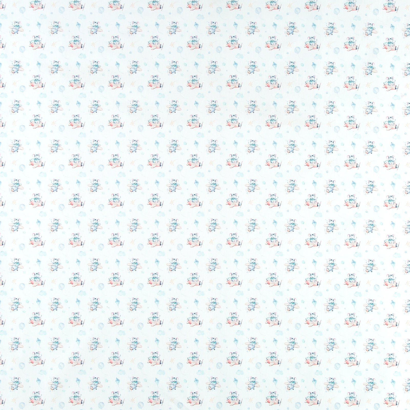 Cotton white with elephants and balloons 780565_pack_sp