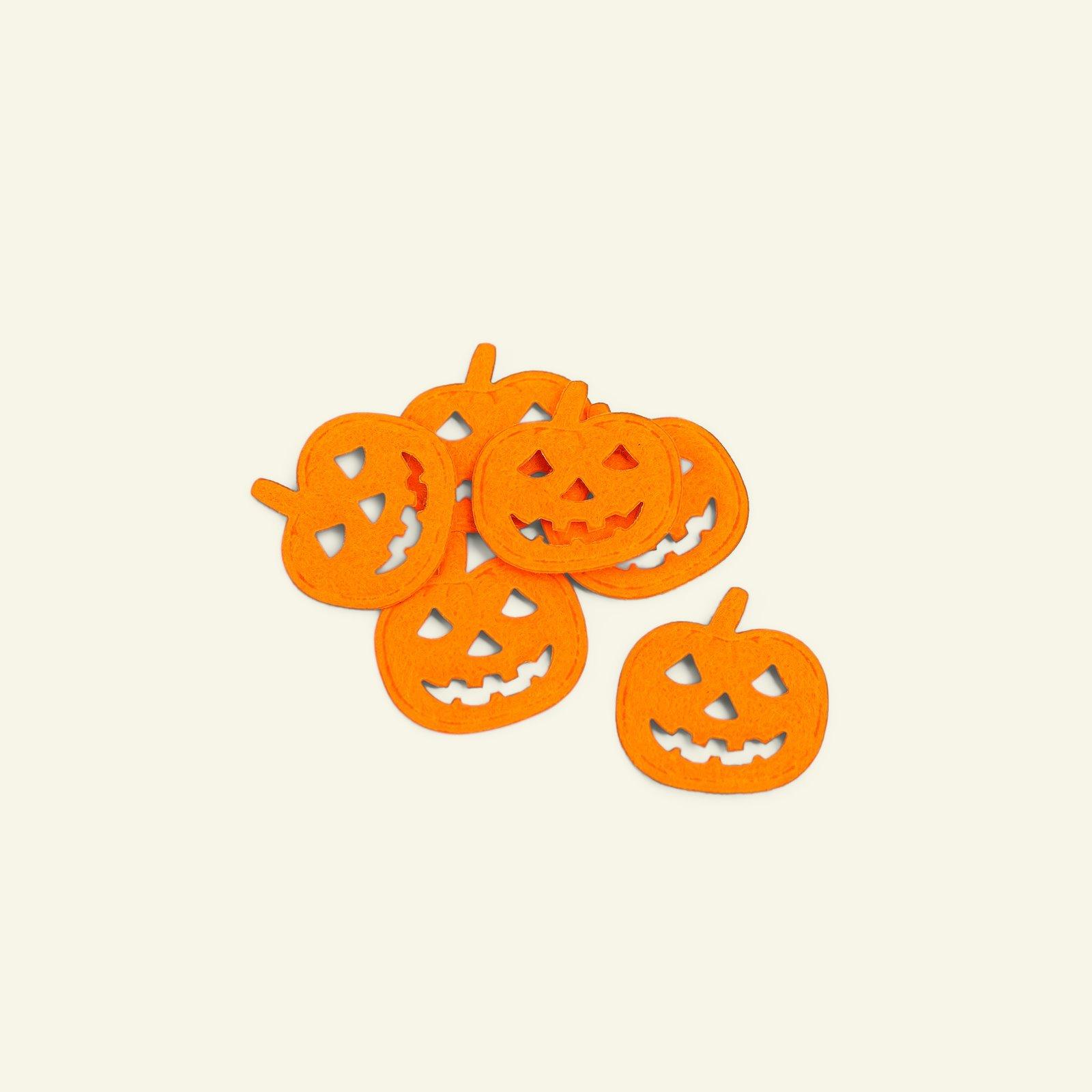 Deco pumpkin 30x30mm orange 6pcs 26460_pack
