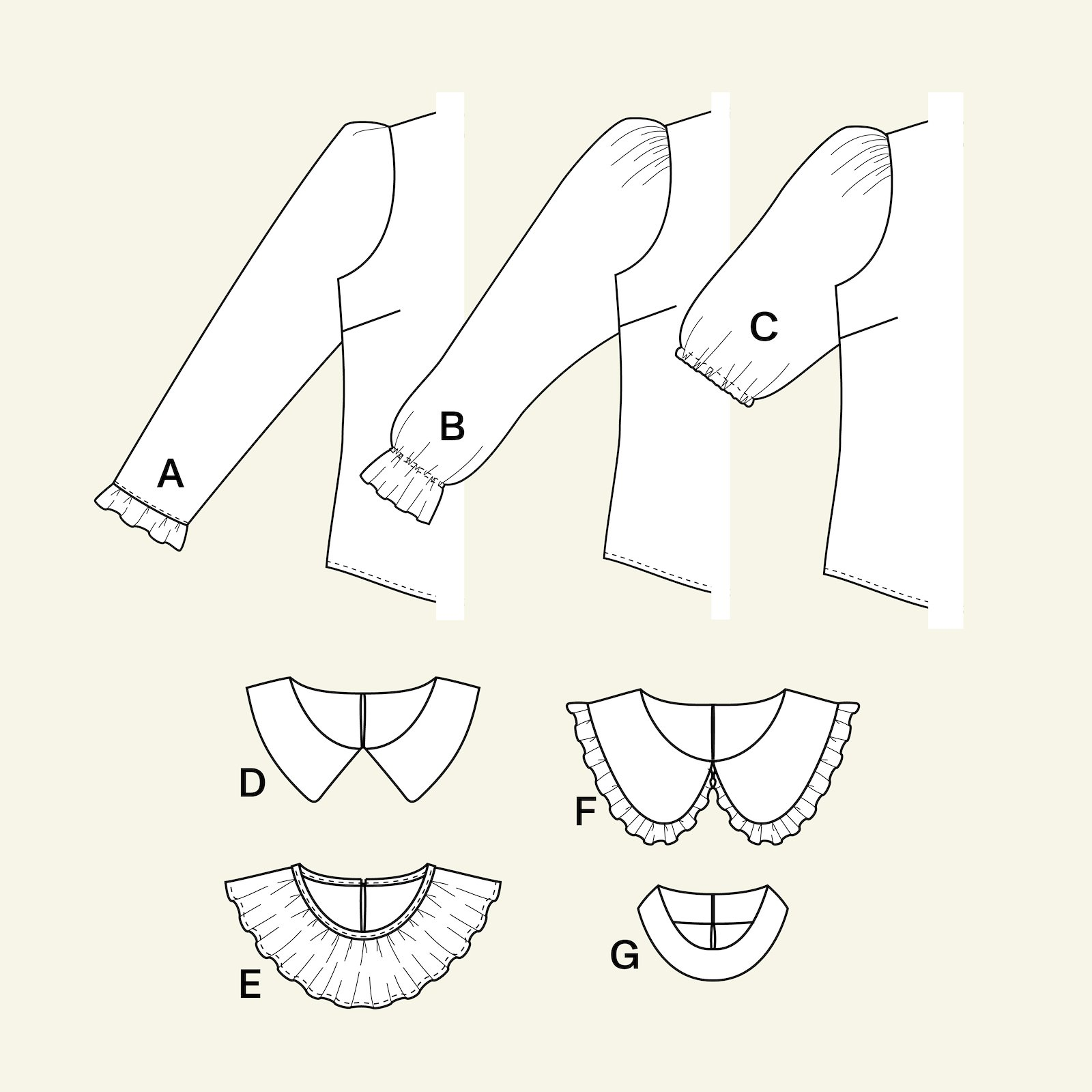 Design your own blouse, 44/16 p22075_pack