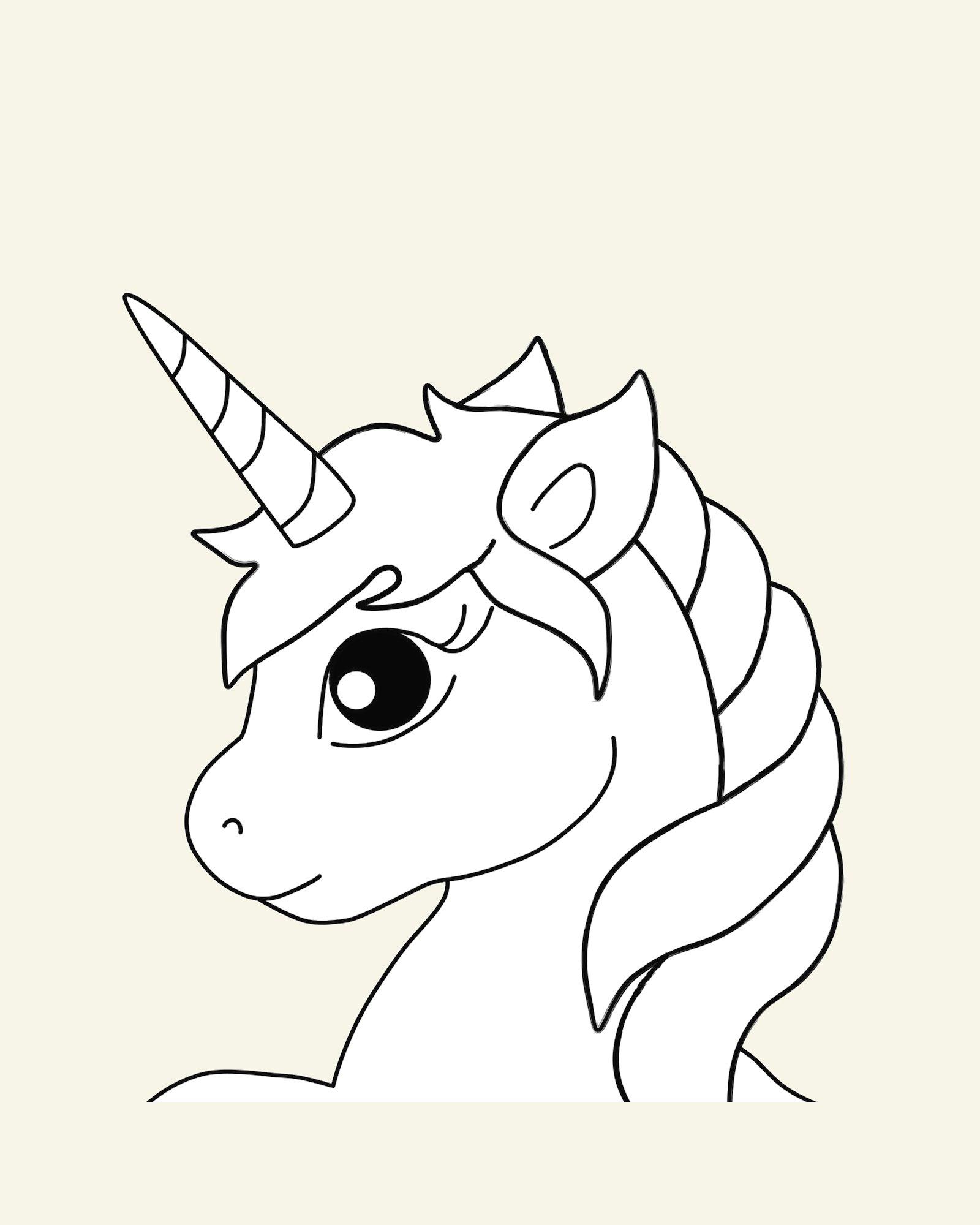 Punch needle unicorn