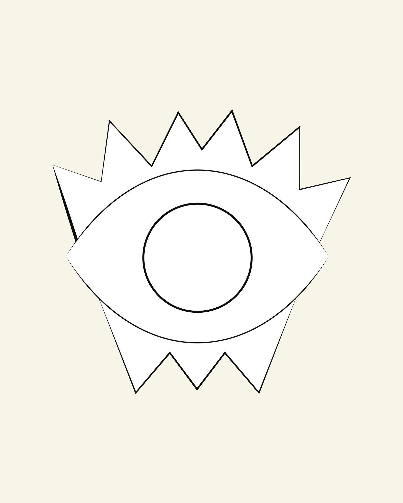 Punch needle eye
