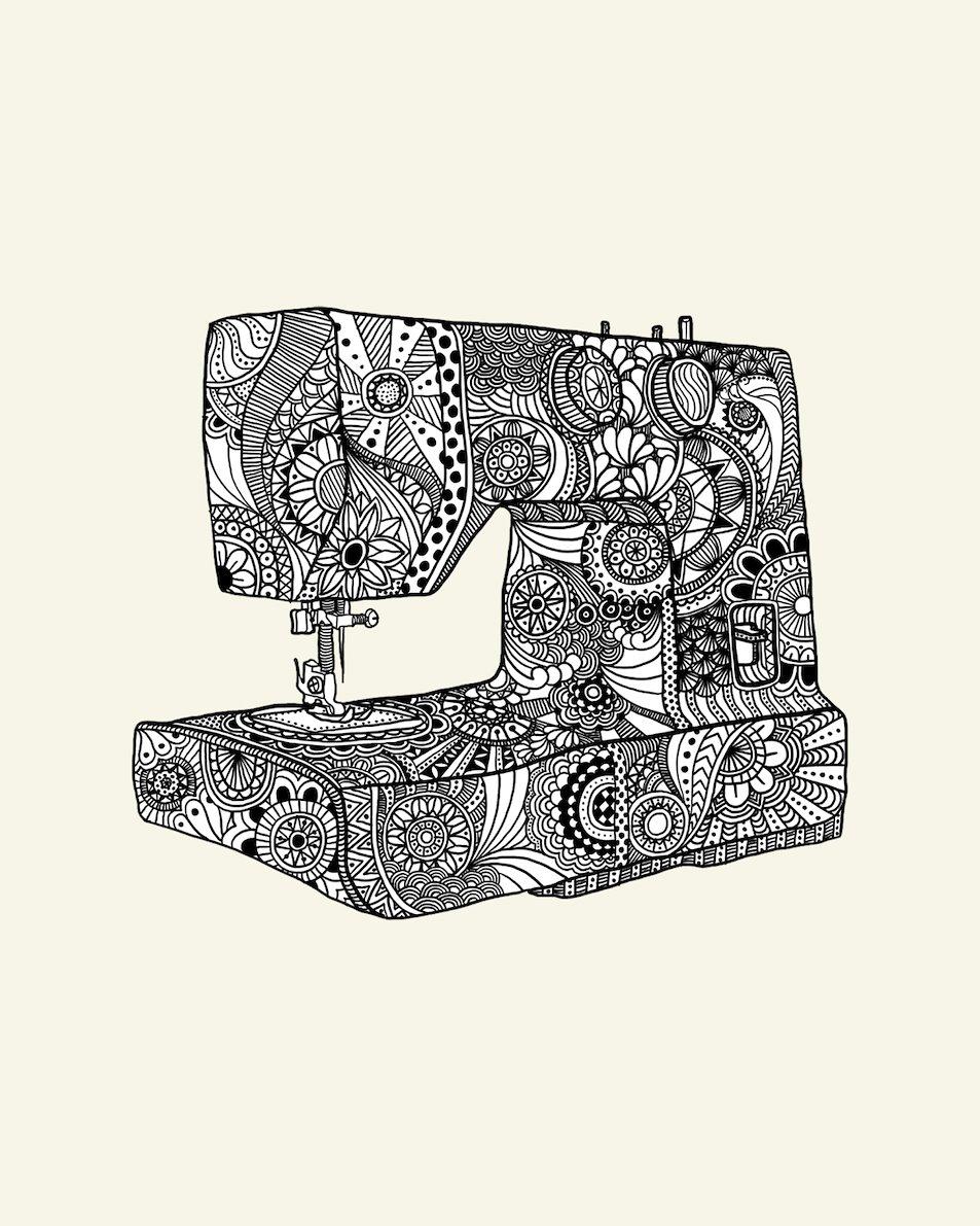 Drawing sewingmachine