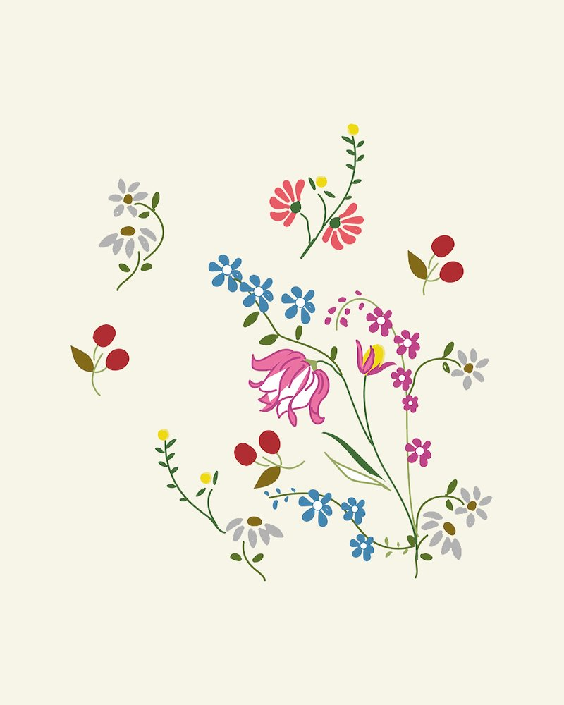 Floral embroidery templates