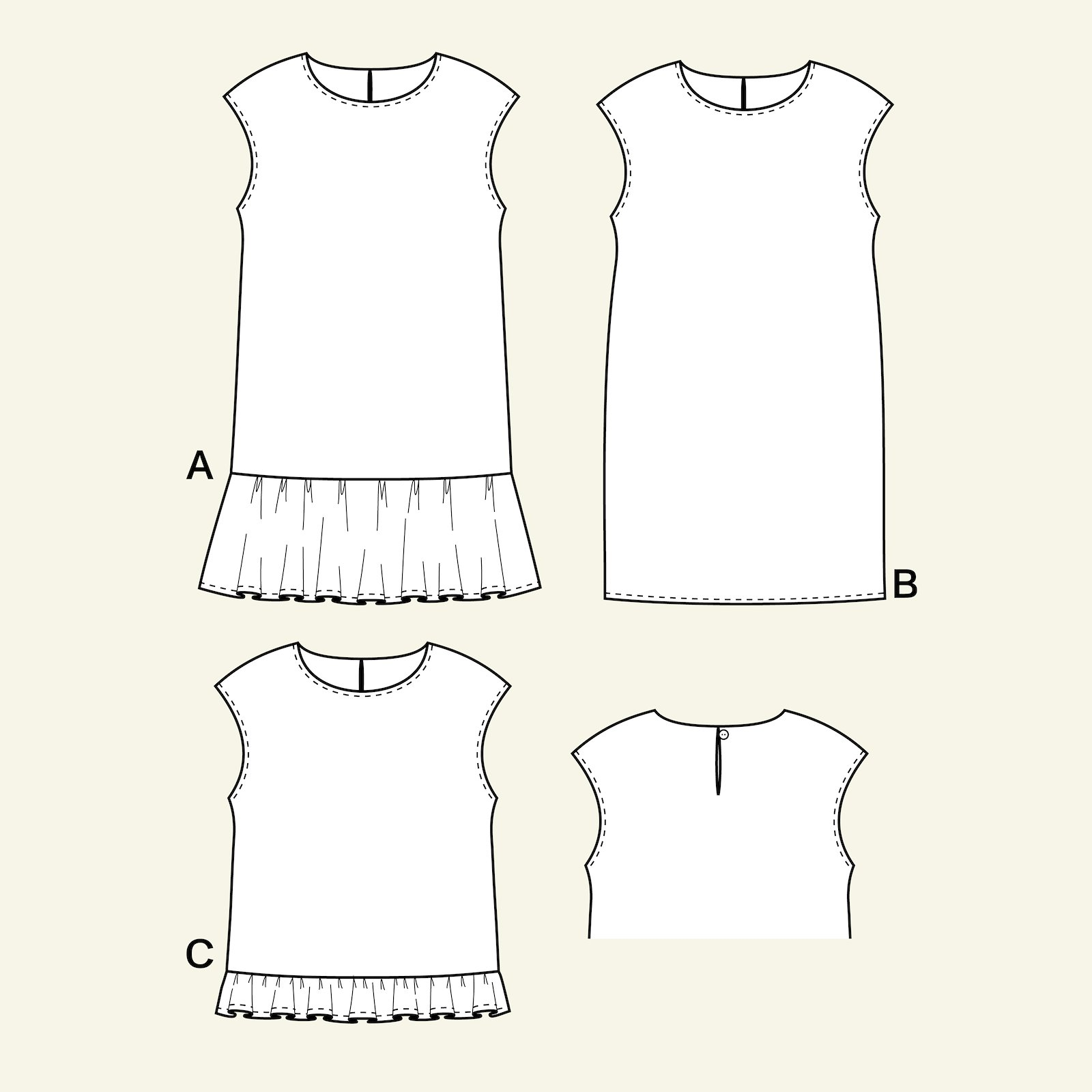 Dress and blouse, 122/6y p63049_pack