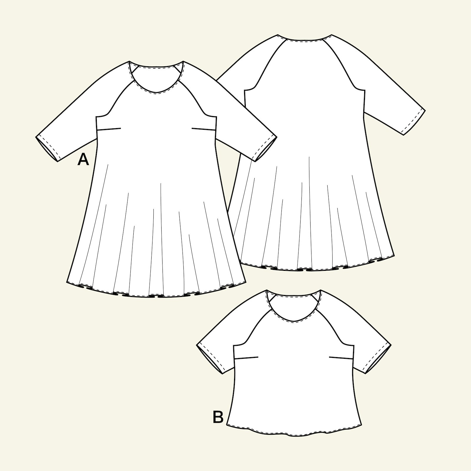 Dress and blouse, 50/22 p73013_pack