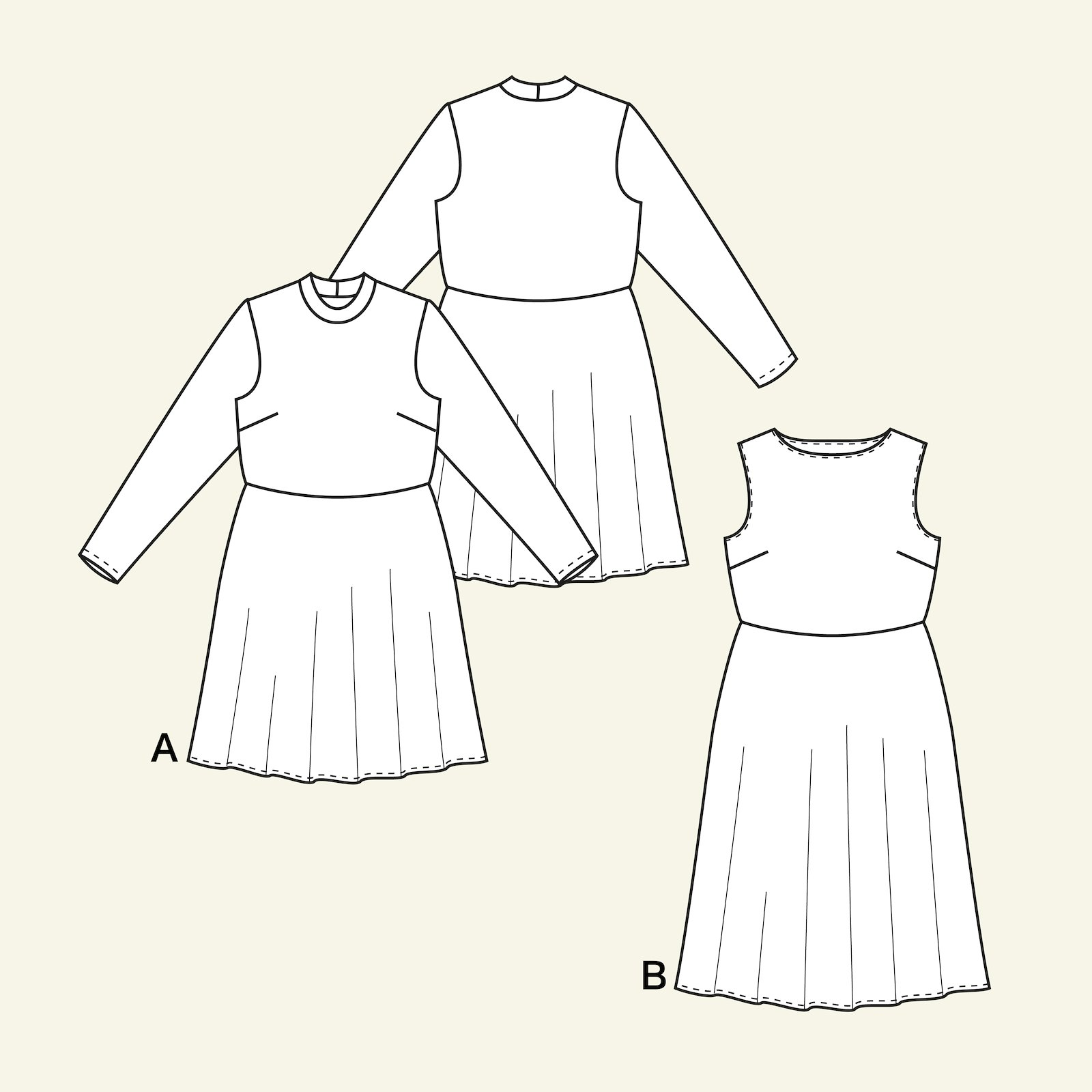 Dress with a full skirt, 34/6 p23154_pack