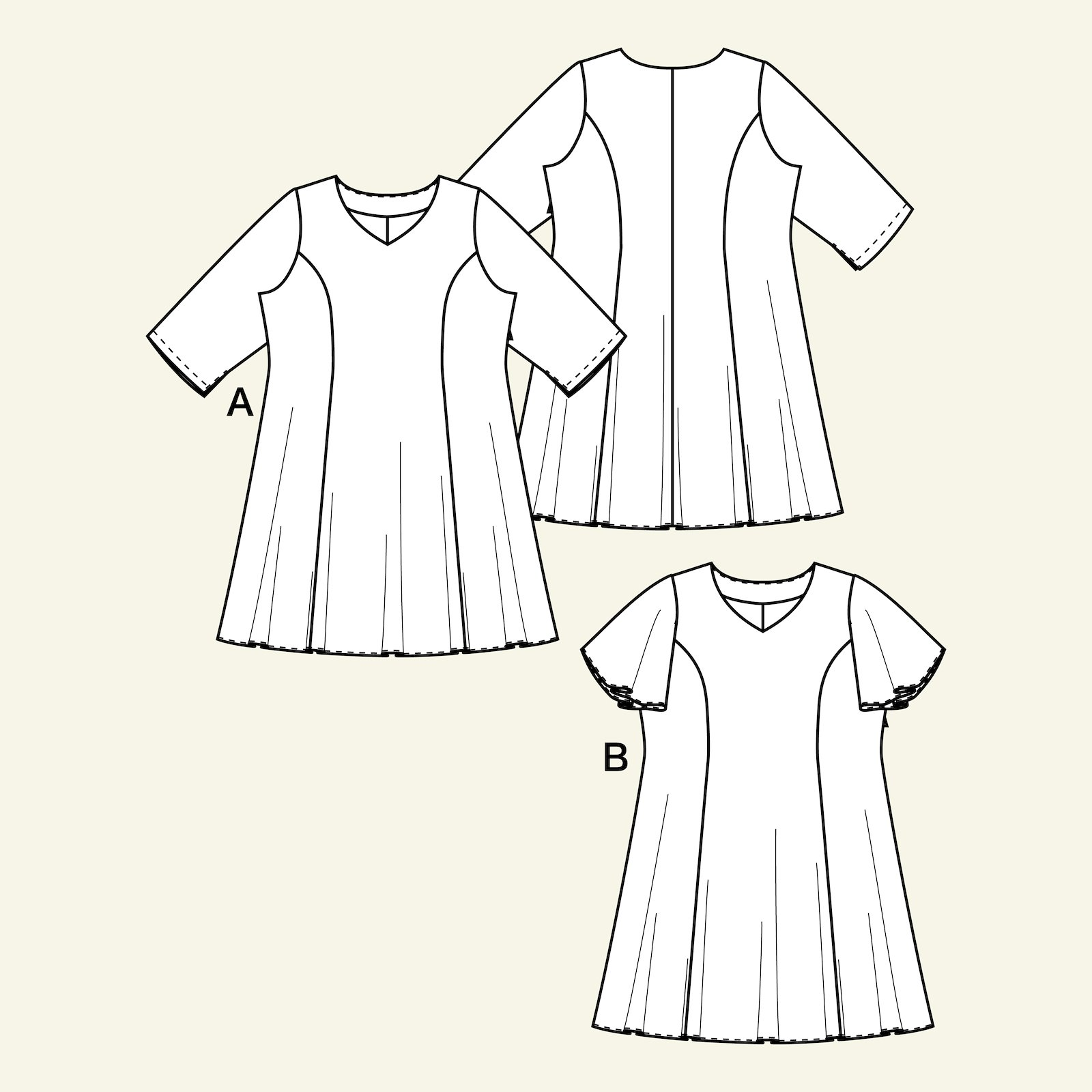 Dress with a princess cut, 50/22 p73016_pack