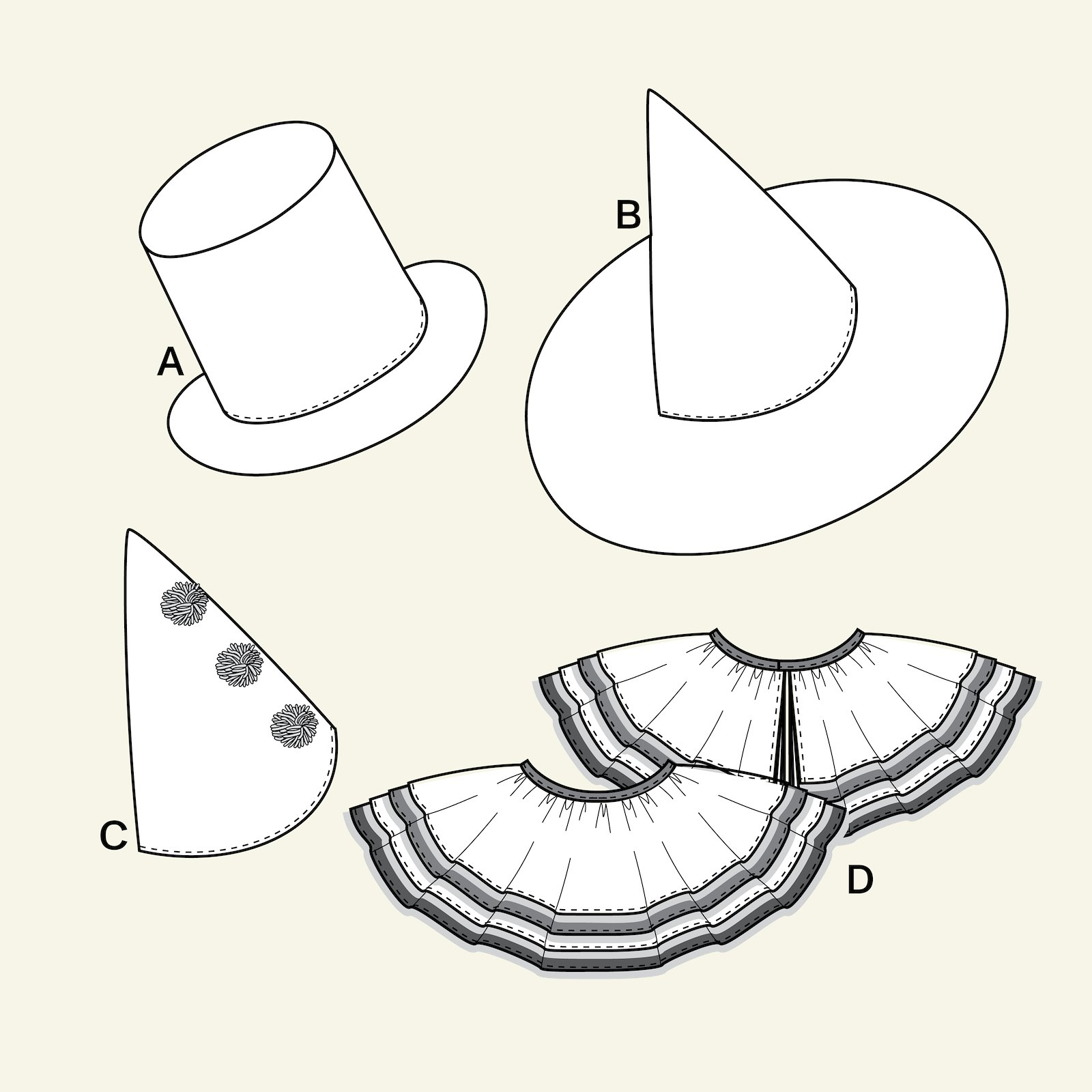 Dressing up accessories, 104/4y p66009_pack