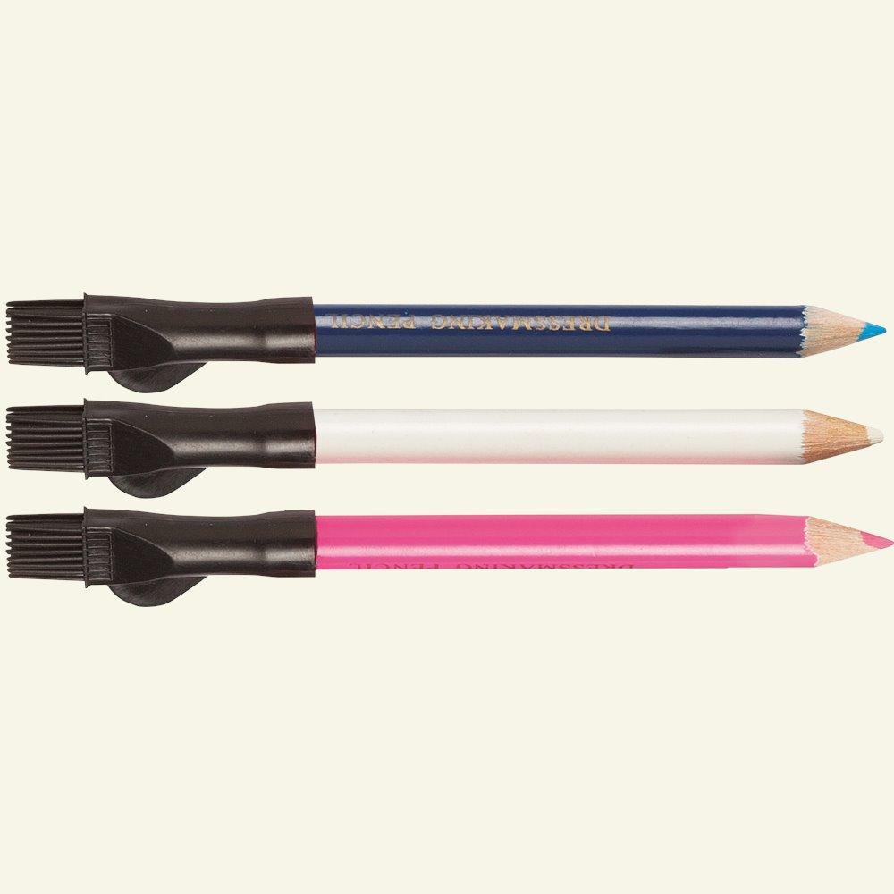 Dressmakers pencil white/blue/pink 3pcs 41006_pack