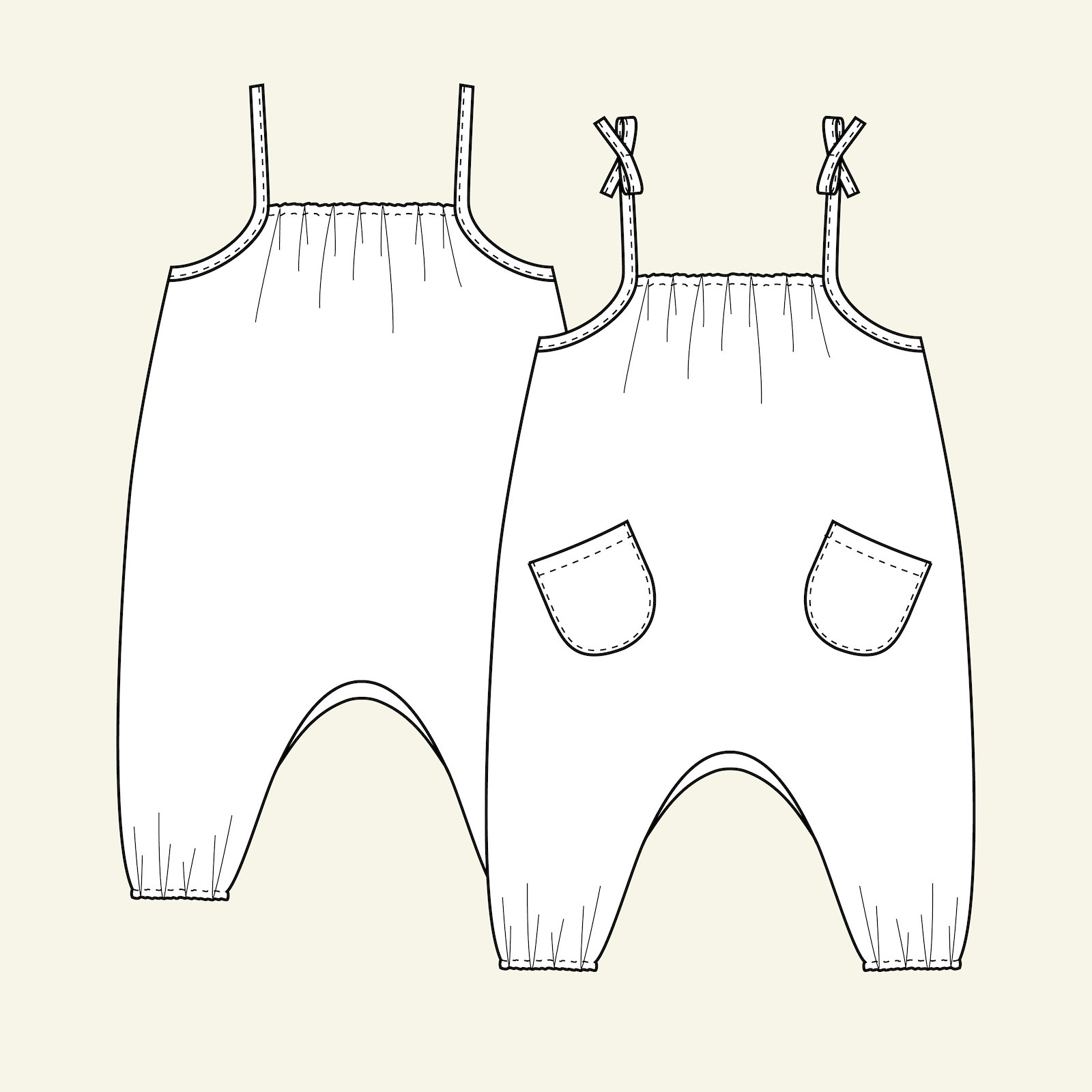 Dungarees, 74/6m p81023_pack