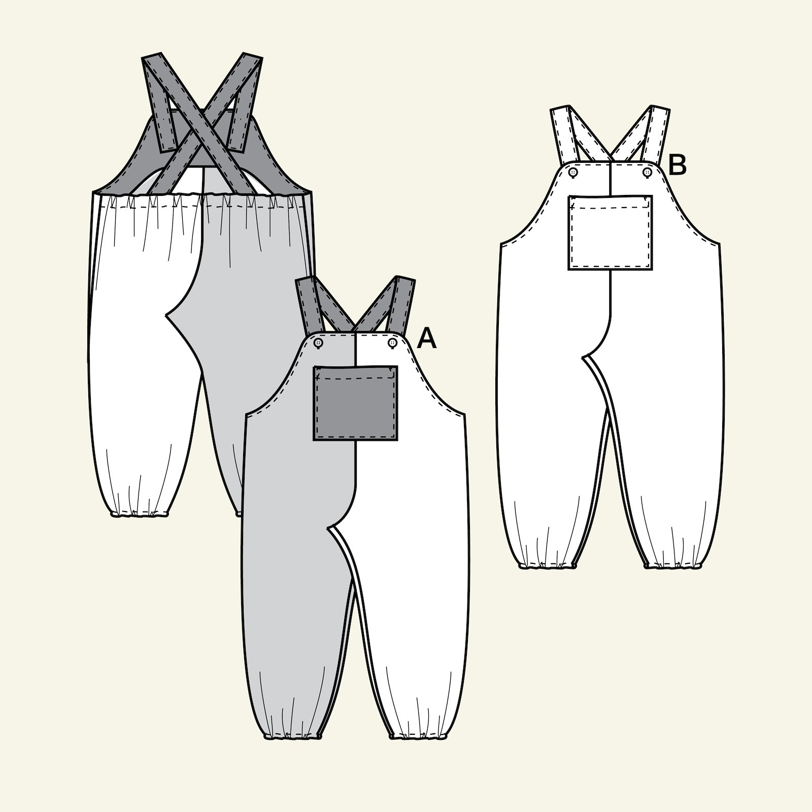 Dungarees, 98/3y p80007_pack