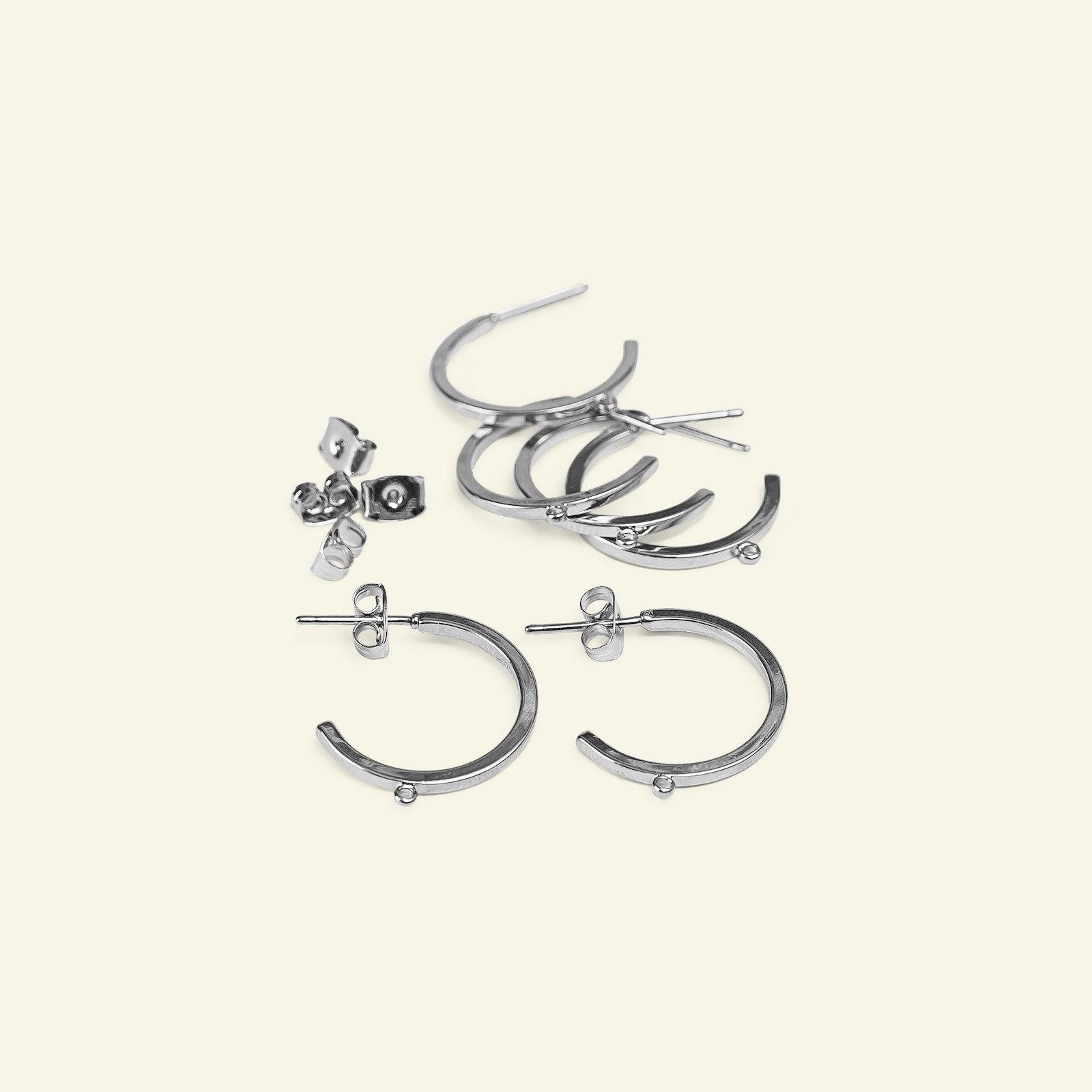 Ear ring hoops 21mm silver 6pcs 45381_pack
