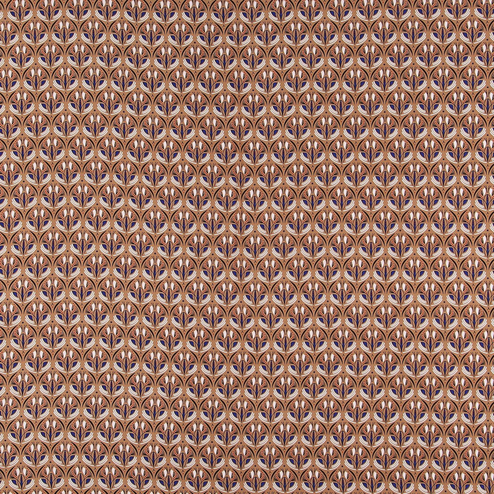 Ecovero woven viscose caramel w print 710671_pack_sp