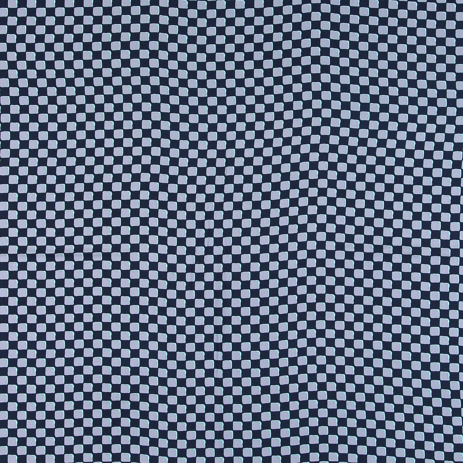 Ecovero woven viscose dark blue w check 710675_pack_sp