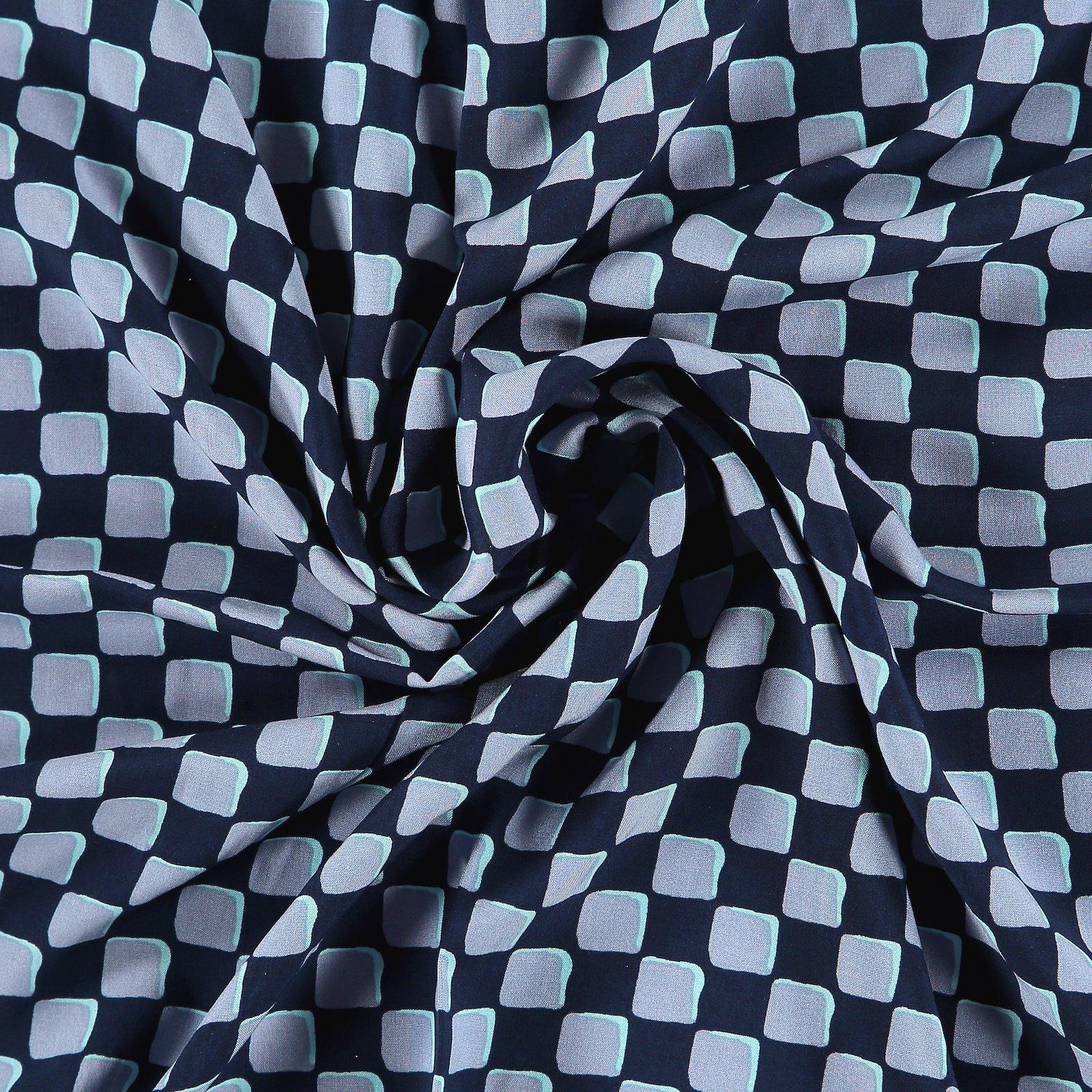 Ecovero woven viscose dark blue w check 710675_pack