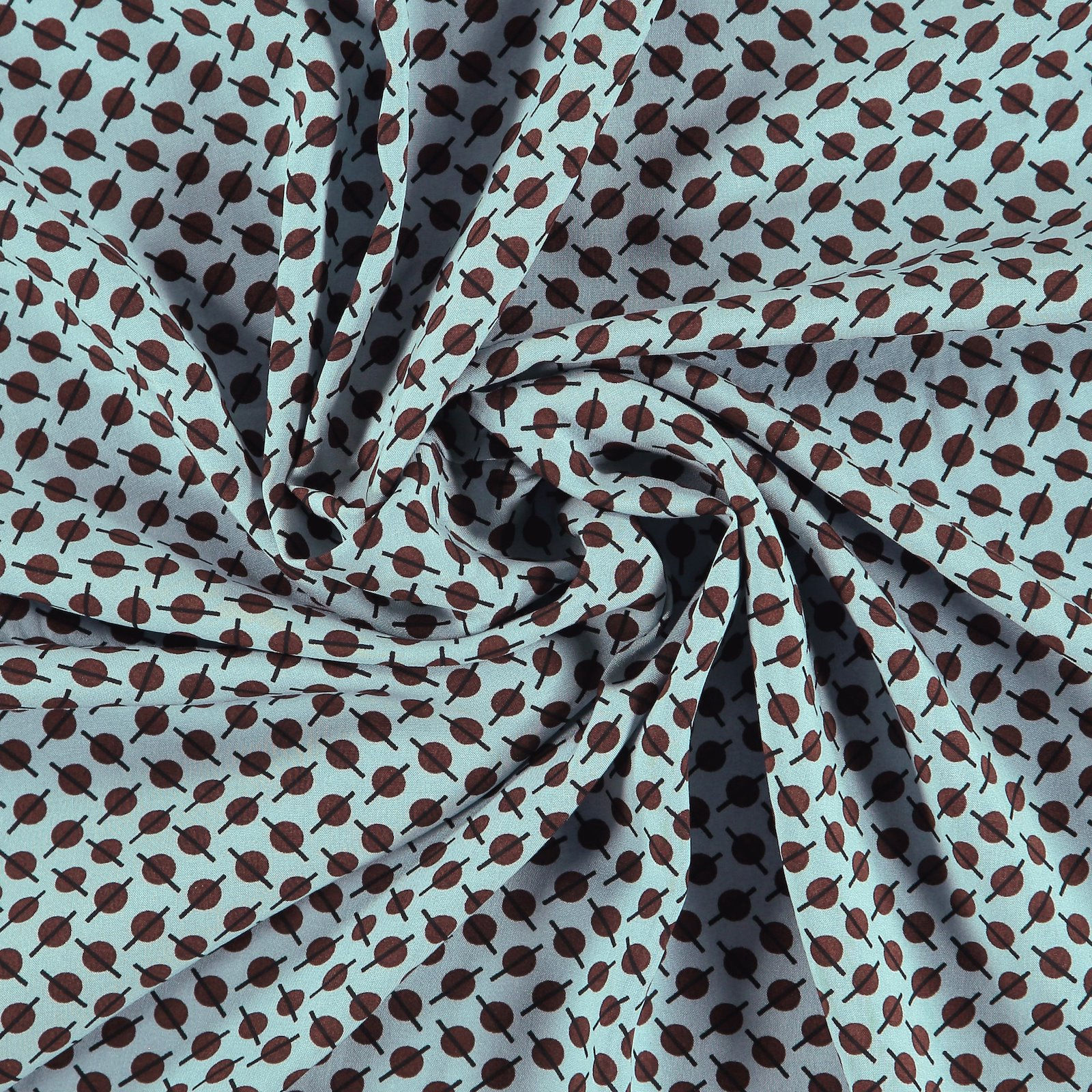 Ecovero woven viscose dusty blue w print 710677_pack