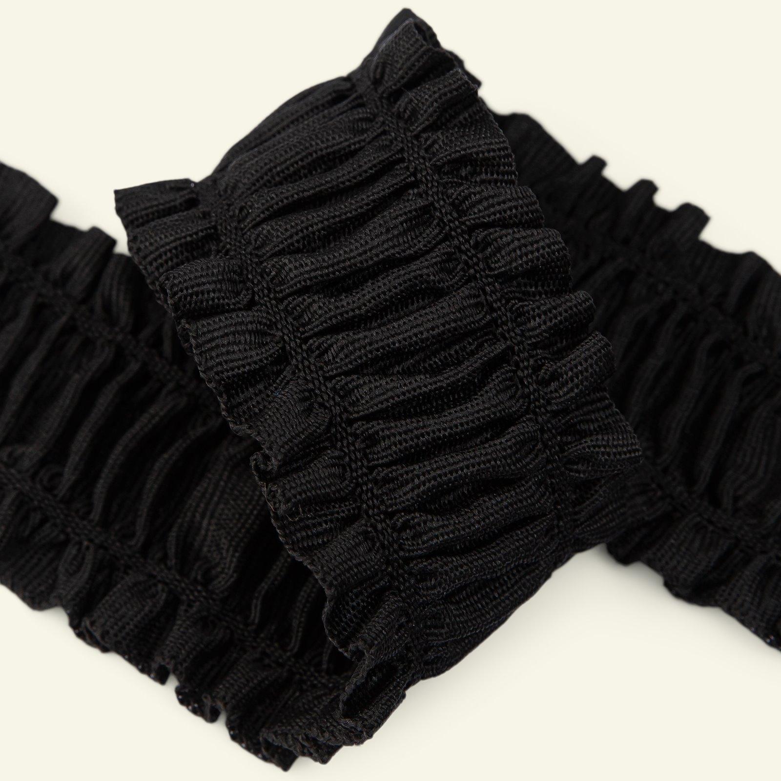 Elastic ribbon 50mm black 1,5m 22221_pack