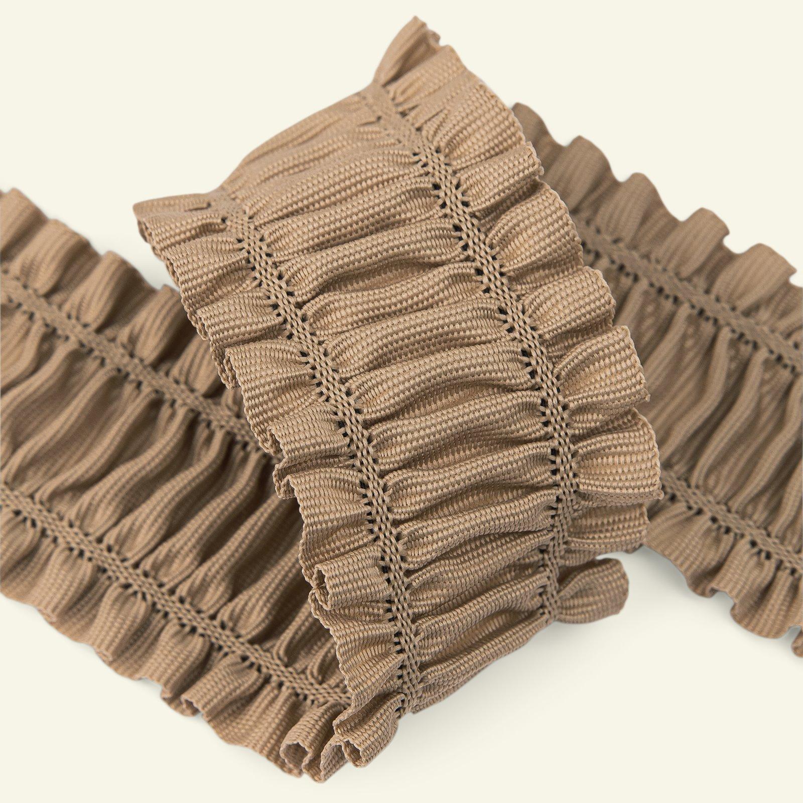 Elastic ribbon 50mm dark beige 1,5m 22219_pack