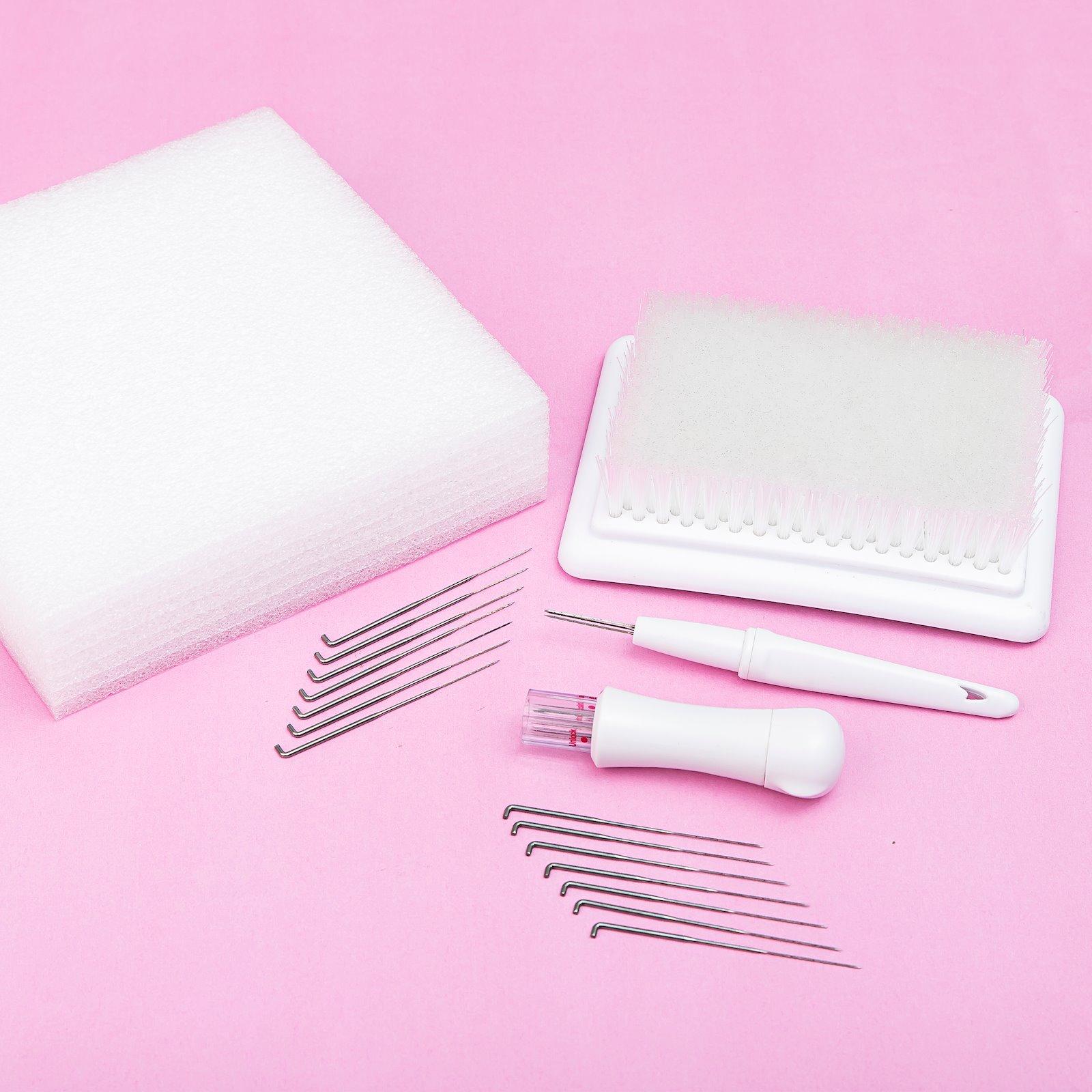 Felting brush/cushion 16x11cm white 1pc 46674_46673_46672_46671_46670_37000_bundle