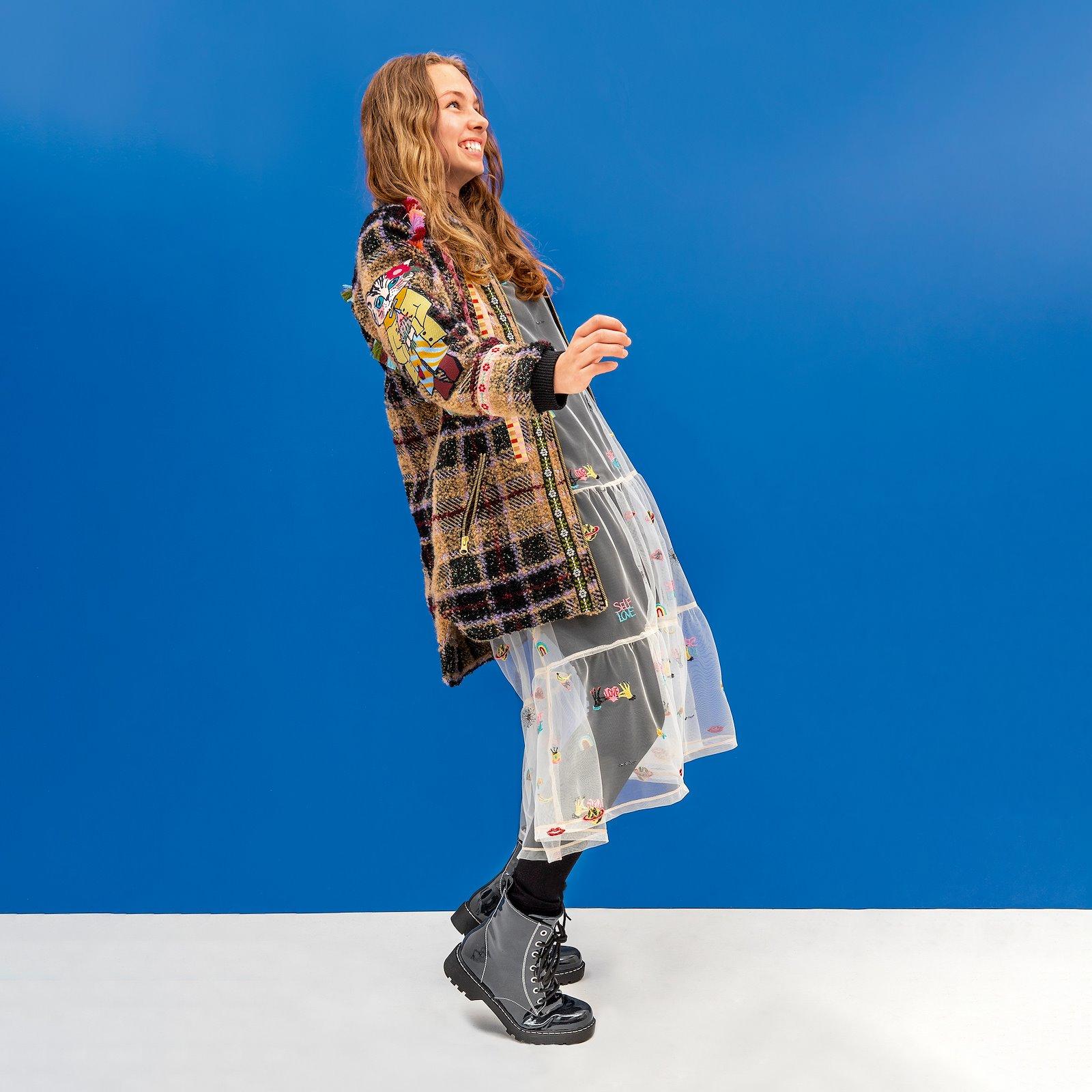 Flounce dress, 134/9y p63062_640280_p63064_270265_p60032_270265_bundle