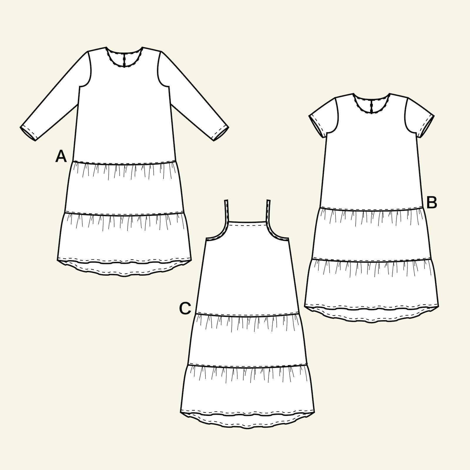 Flounce dress, 134/9y p63062_pack