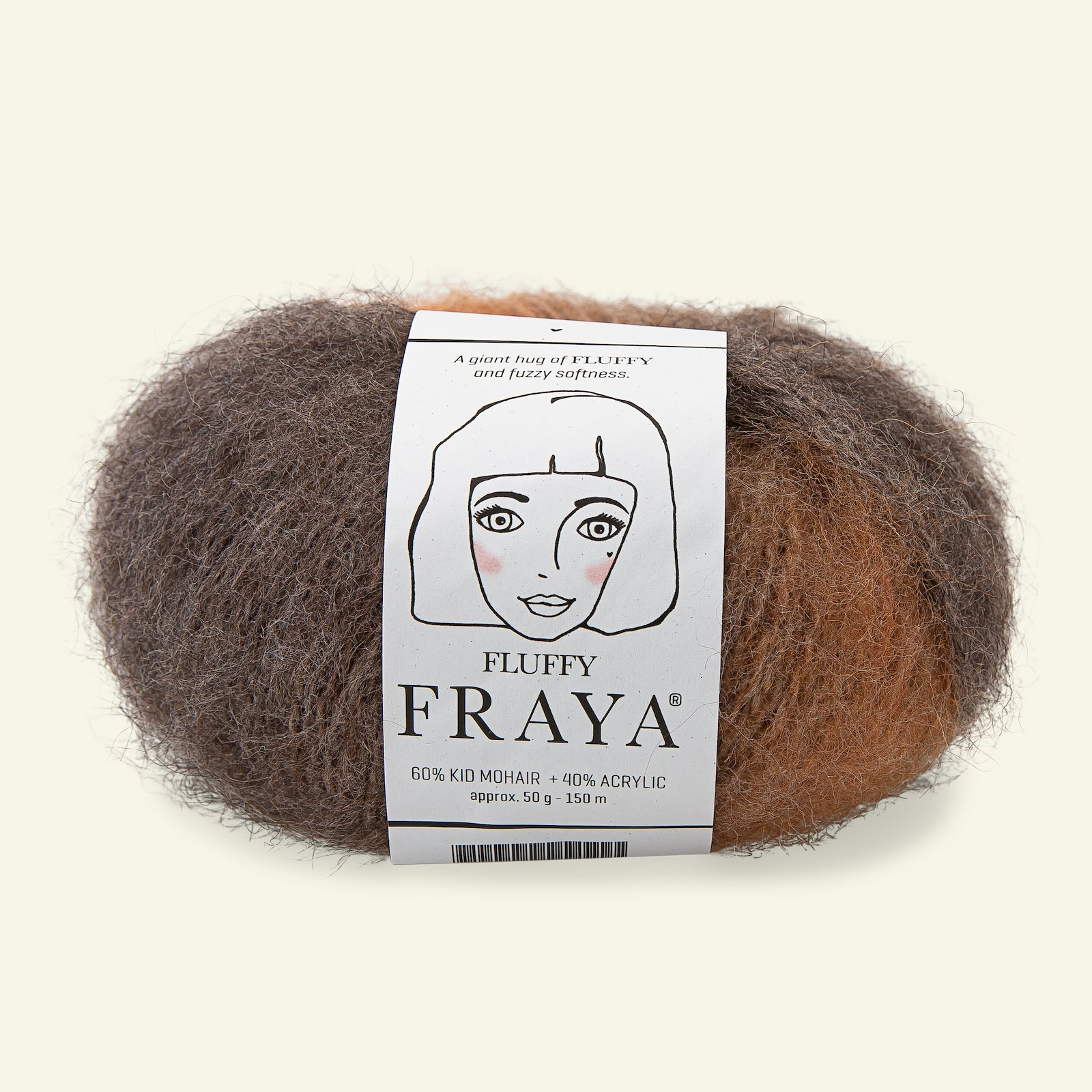 Fluffy 50g, brown mix 90000095_pack