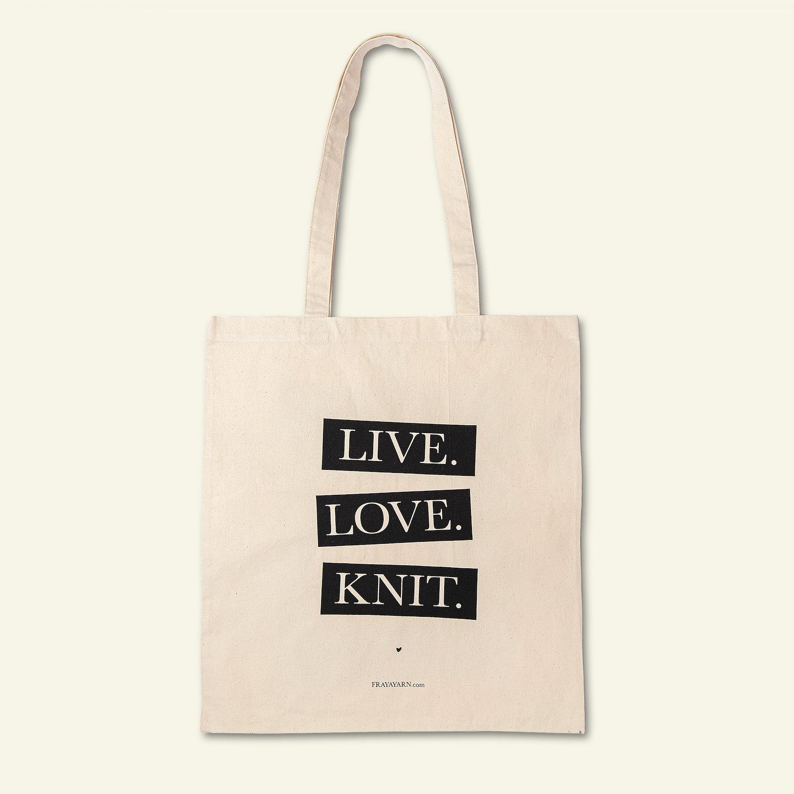 FRAYA Shopper 35x39cm; Live, Love, Knit 96811_pack