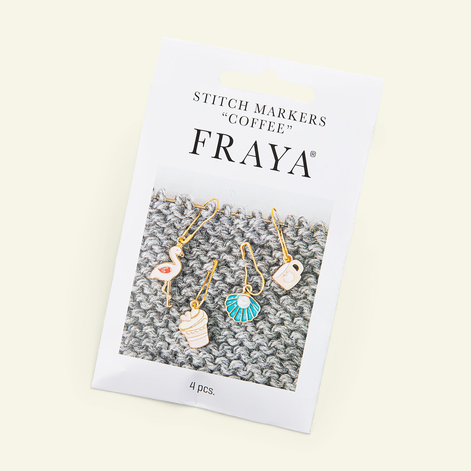 """FRAYA Stitch markers """"Coffee"""" 4pcs 83303_pack_b"""