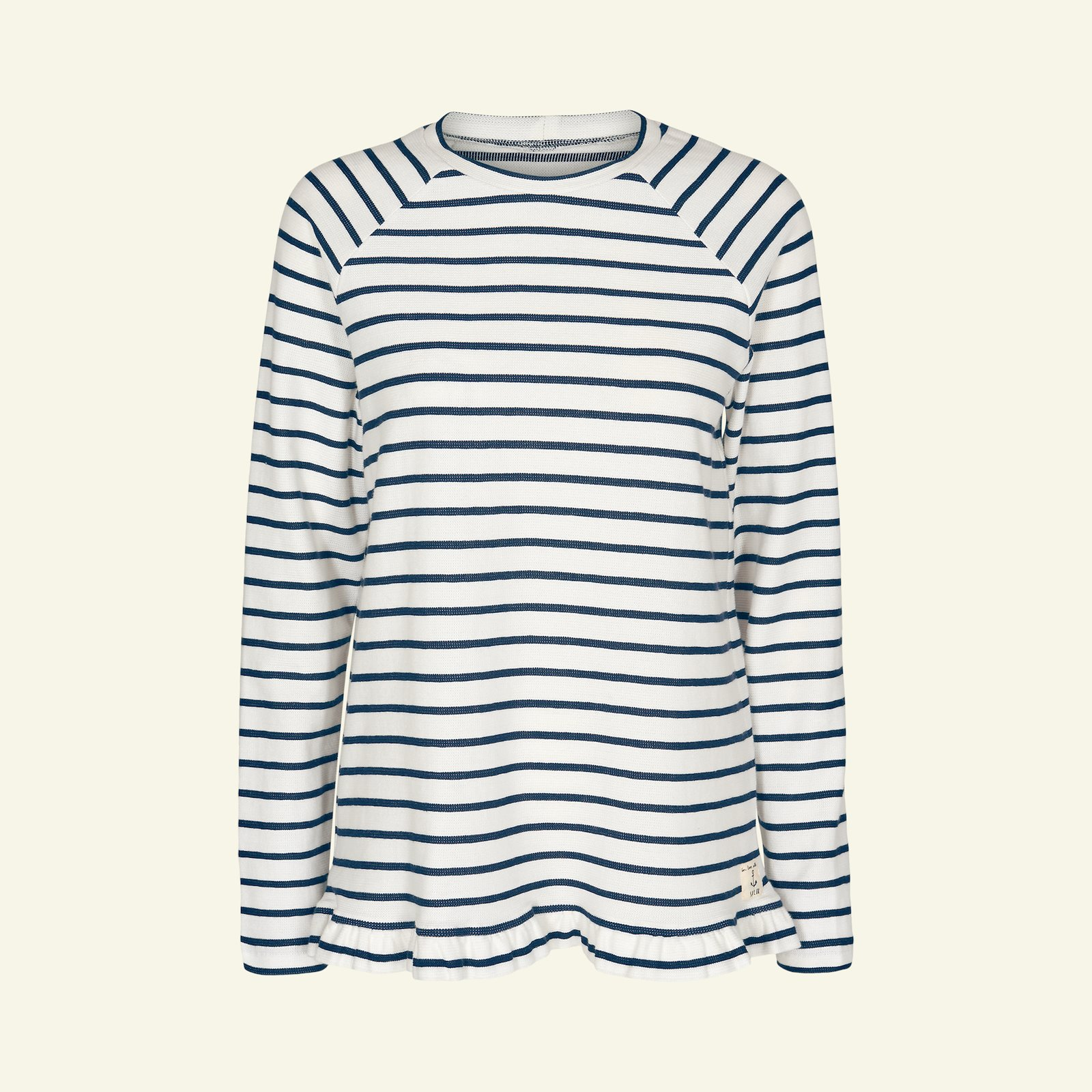 French terry offwhite with yd stripe p22072_203582_26547_sskit