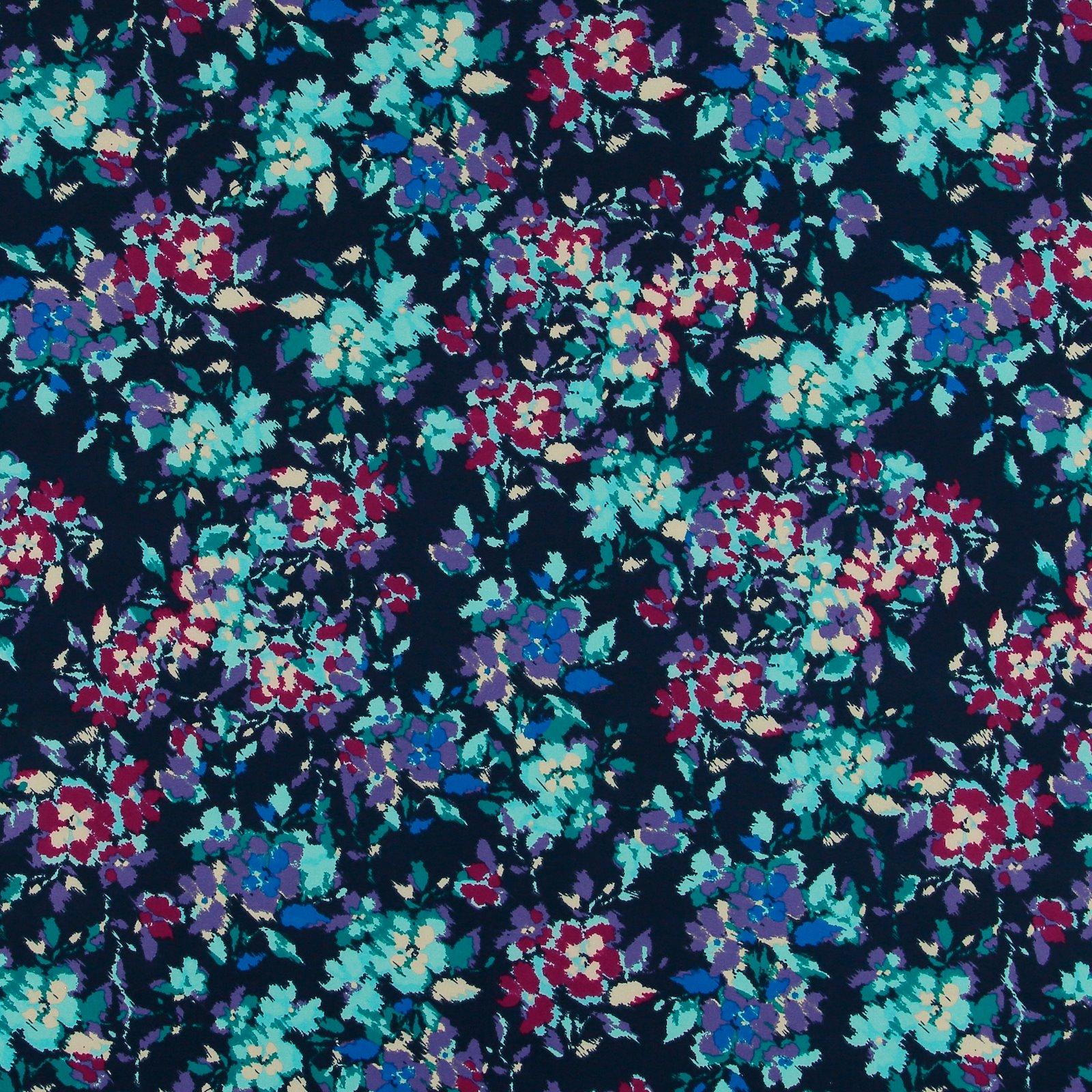 Gewebter Crepe Navy mit bunten Blumen 560266_pack_sp
