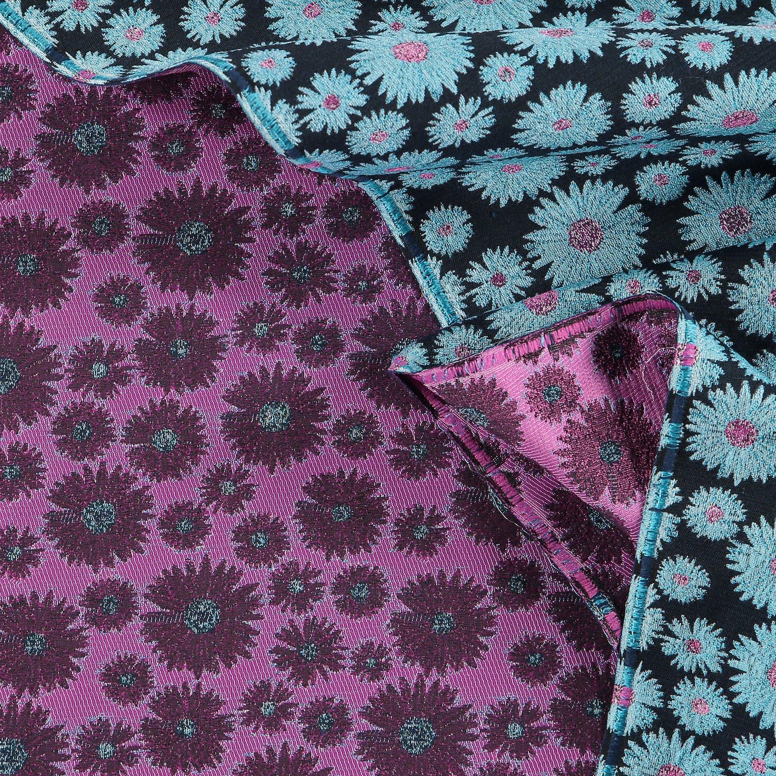 Gewebter Jacquard Pink/Blau Blumen 400326_pack_d