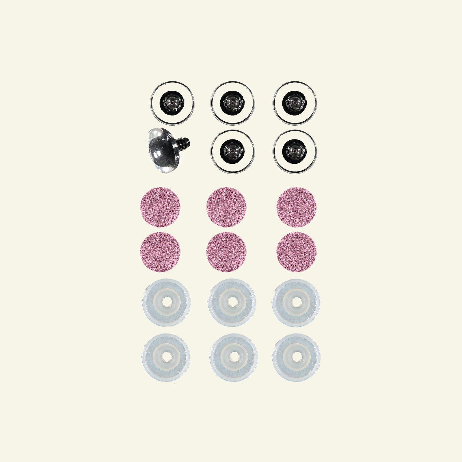 Glitter eyes 20mm rose 6pcs 43406_pack