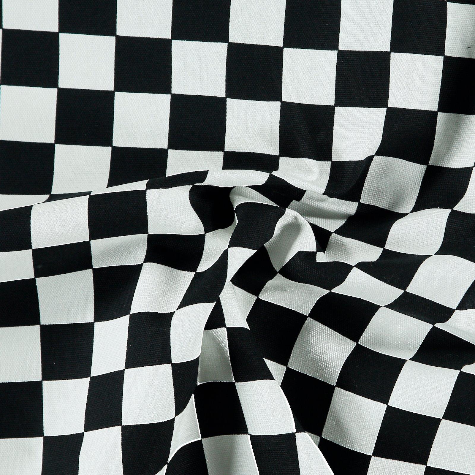 Heavy canvas black/white check 780573_pack