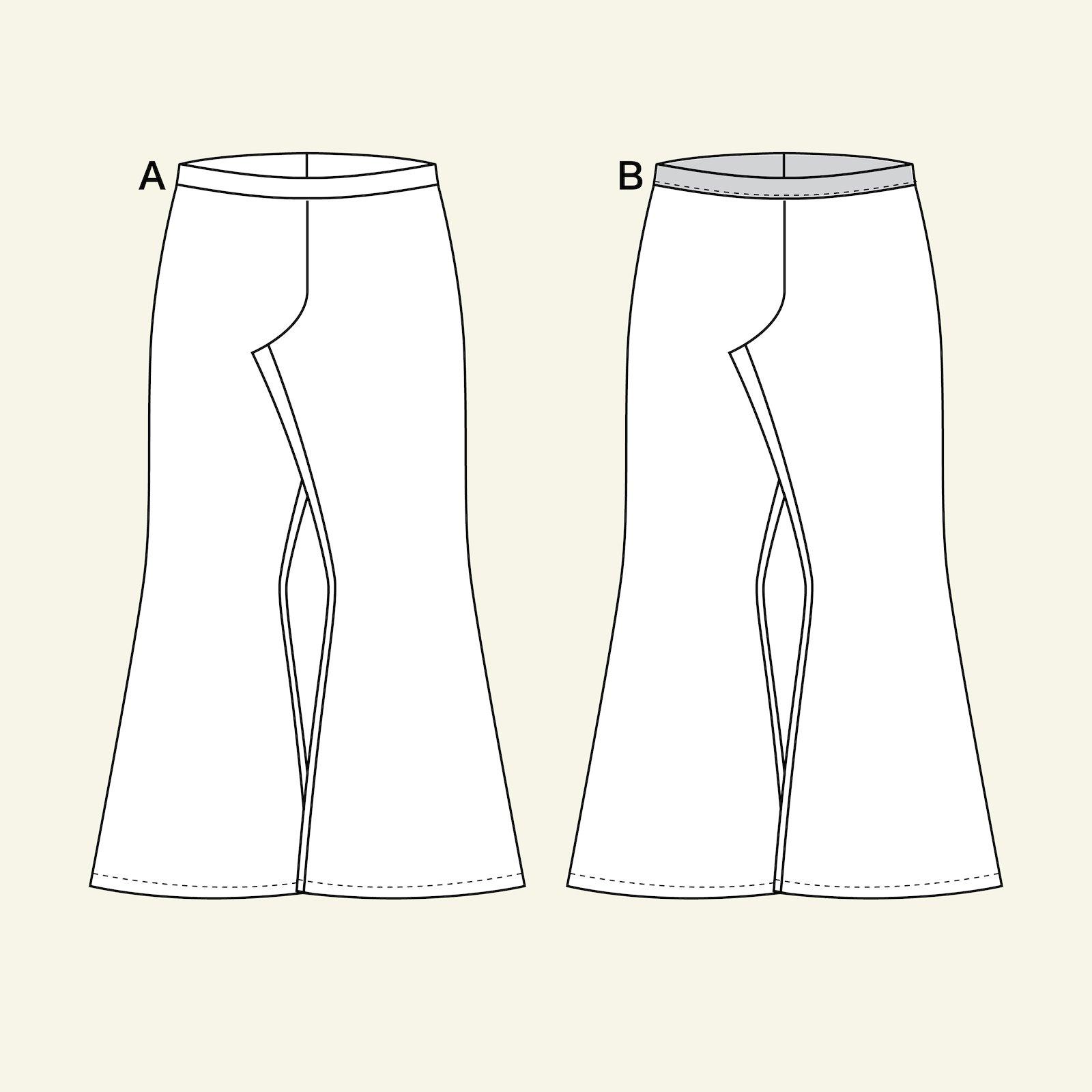 High waist trompet trouser, 134/9y p60038_pack