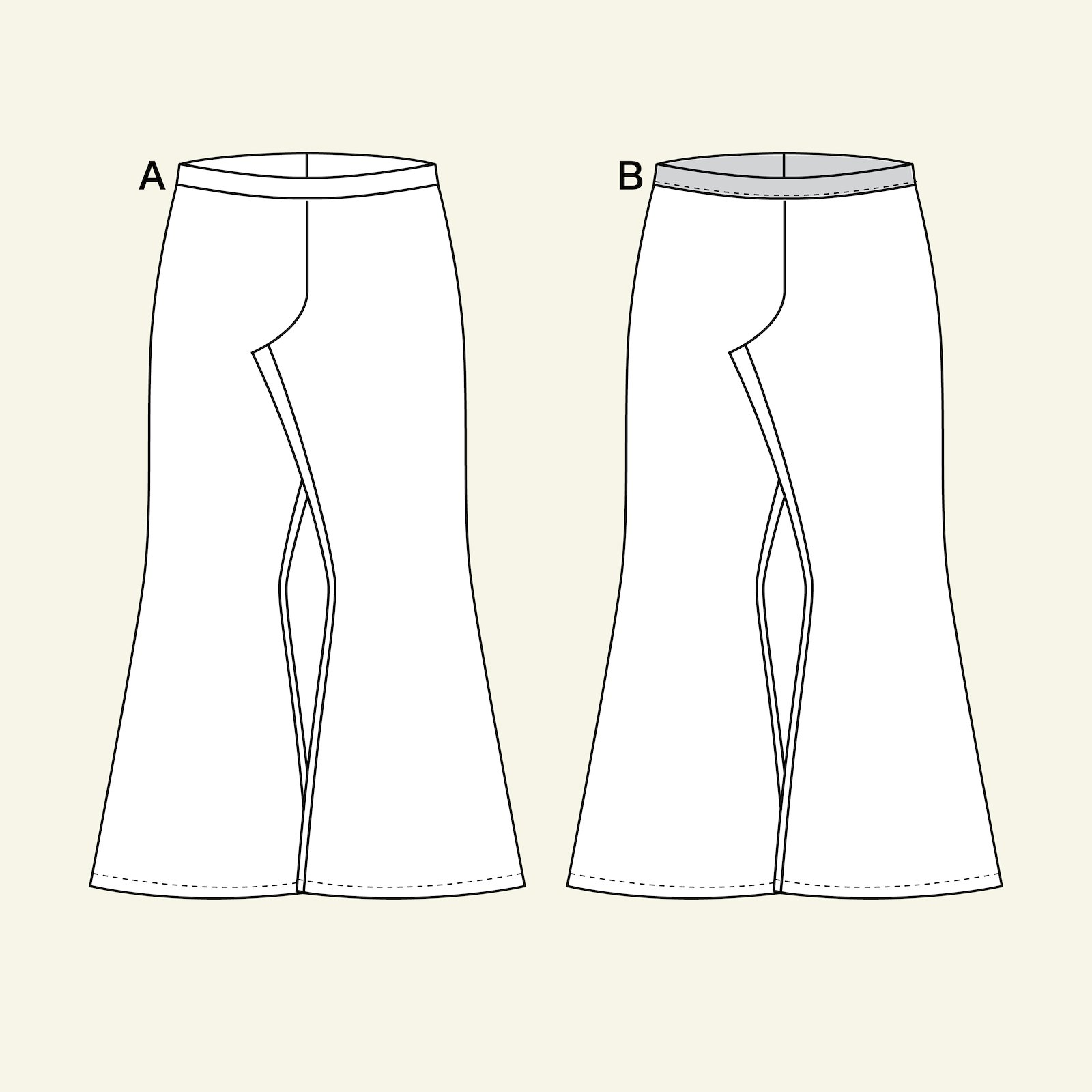 High waist trompet trouser p60038_pack