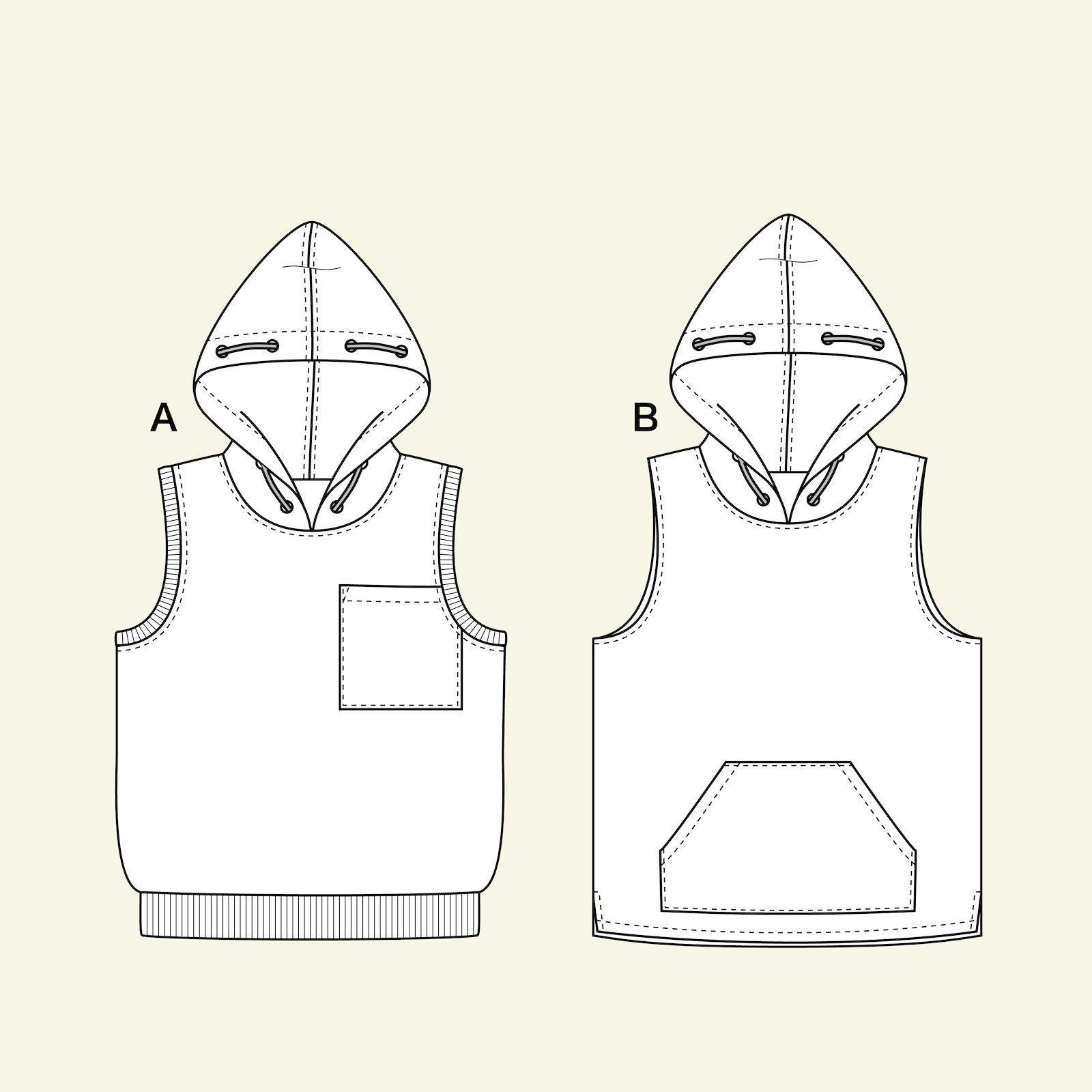 Hoodie waistcoat, 164/14y p62021_pack