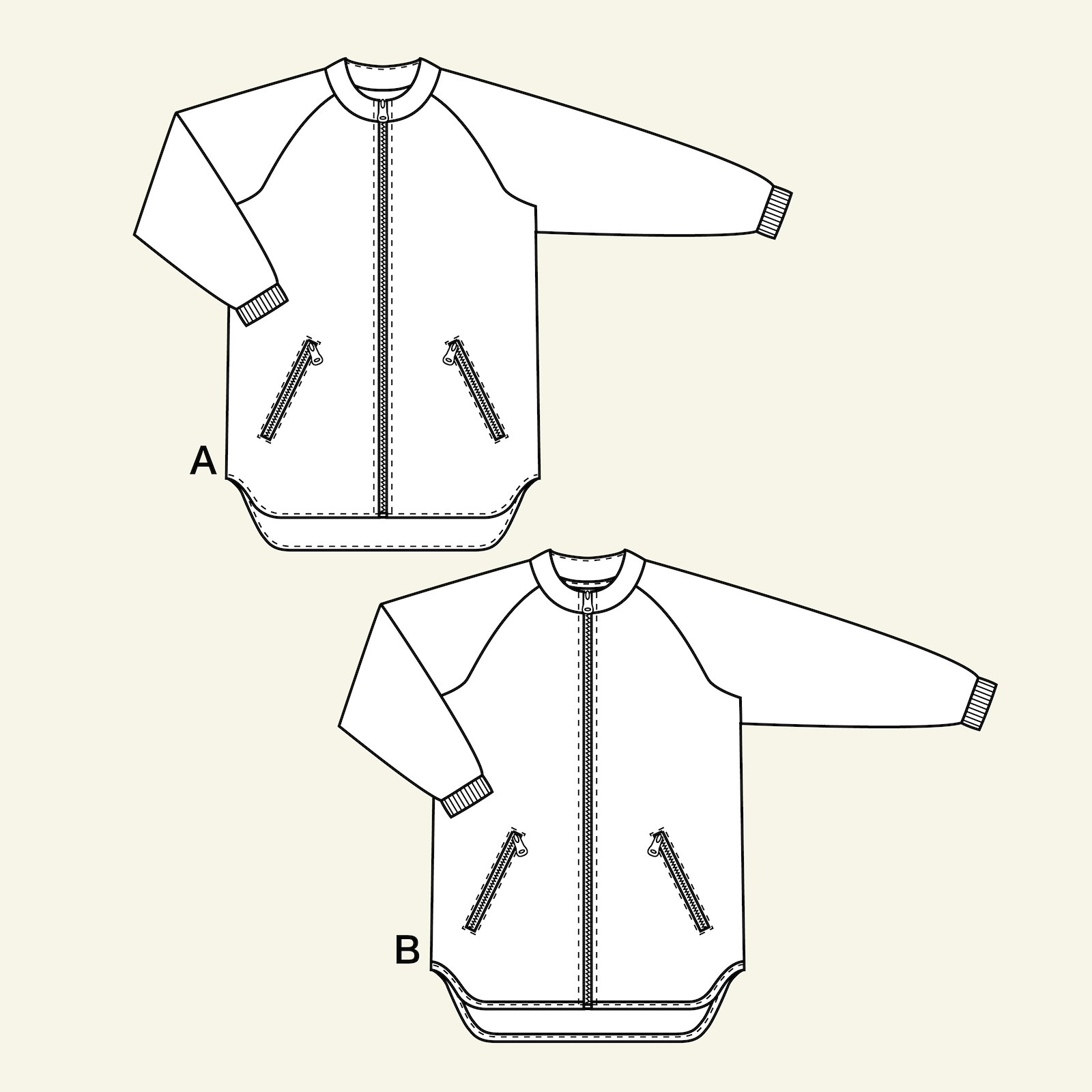Jacket with raglan sleeves, 116/6y p64019_pack
